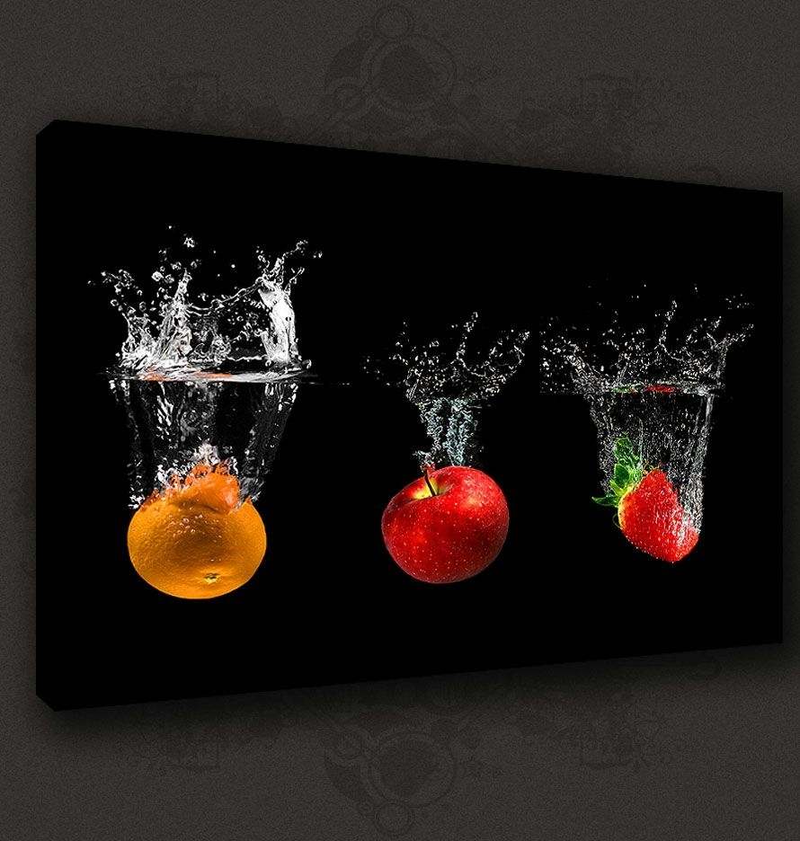 Best Kitchen Canvas Wall Decor Home Furniture Design Modern Within Kitchen Canvas Wall Art Decors (View 11 of 20)