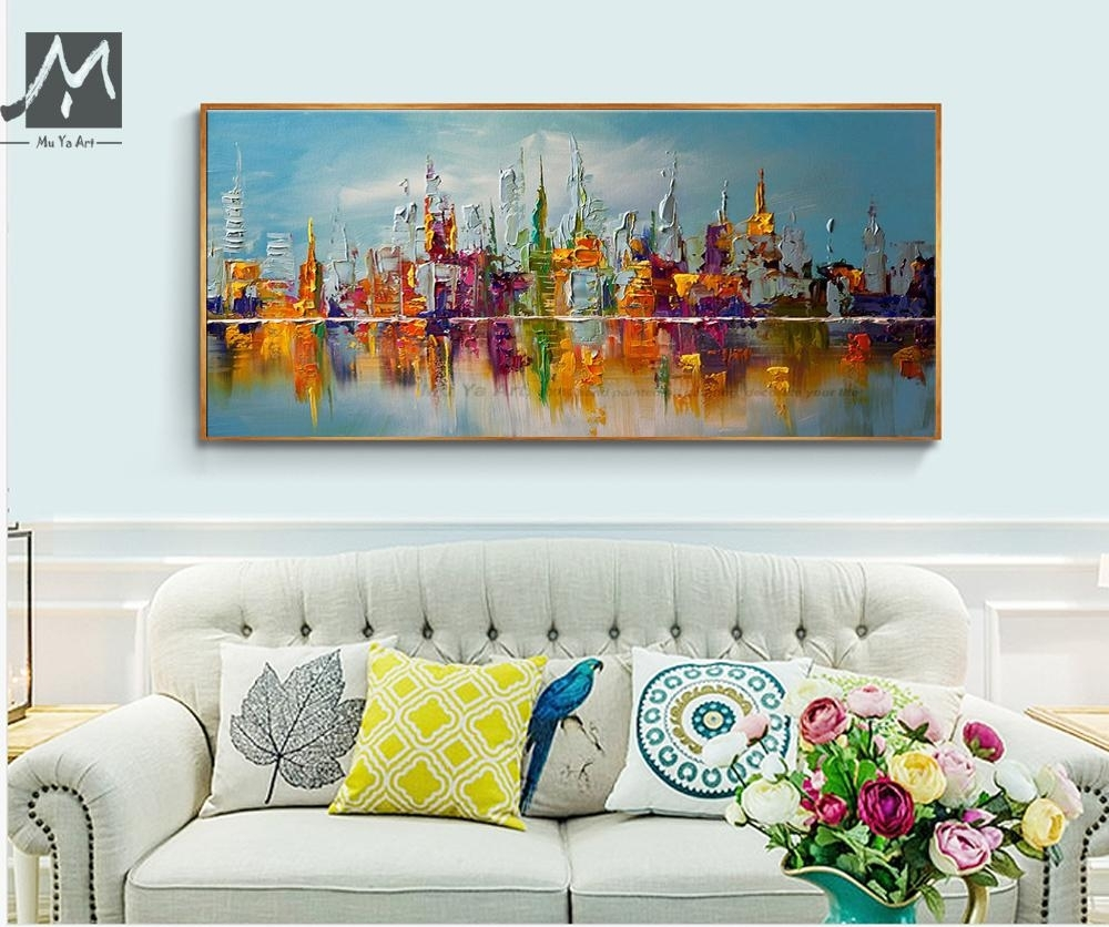 Best Large Canvas Wall Art Abstract Modern Decorative Pictures New inside Modern Large Canvas Wall Art (Image 11 of 20)