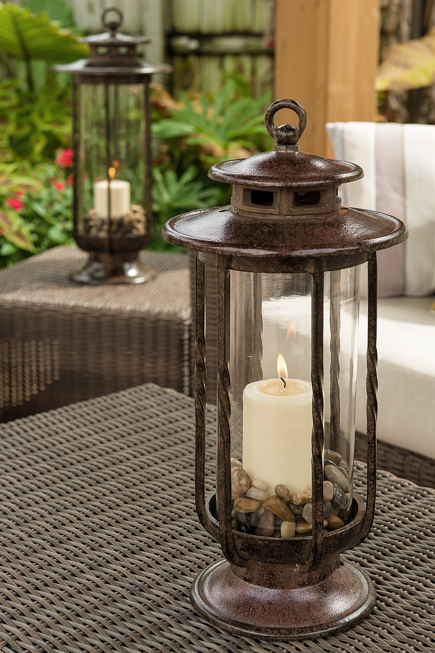 Best Rated In Decorative Candle Lanterns & Helpful Customer Reviews inside Outdoor Cast Iron Lanterns (Image 1 of 20)
