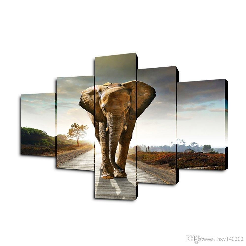 Best Yijiahe Dw5 Canvas Painting Art Elephant Wall Art Pictures For Elephant Wall Art (View 6 of 20)