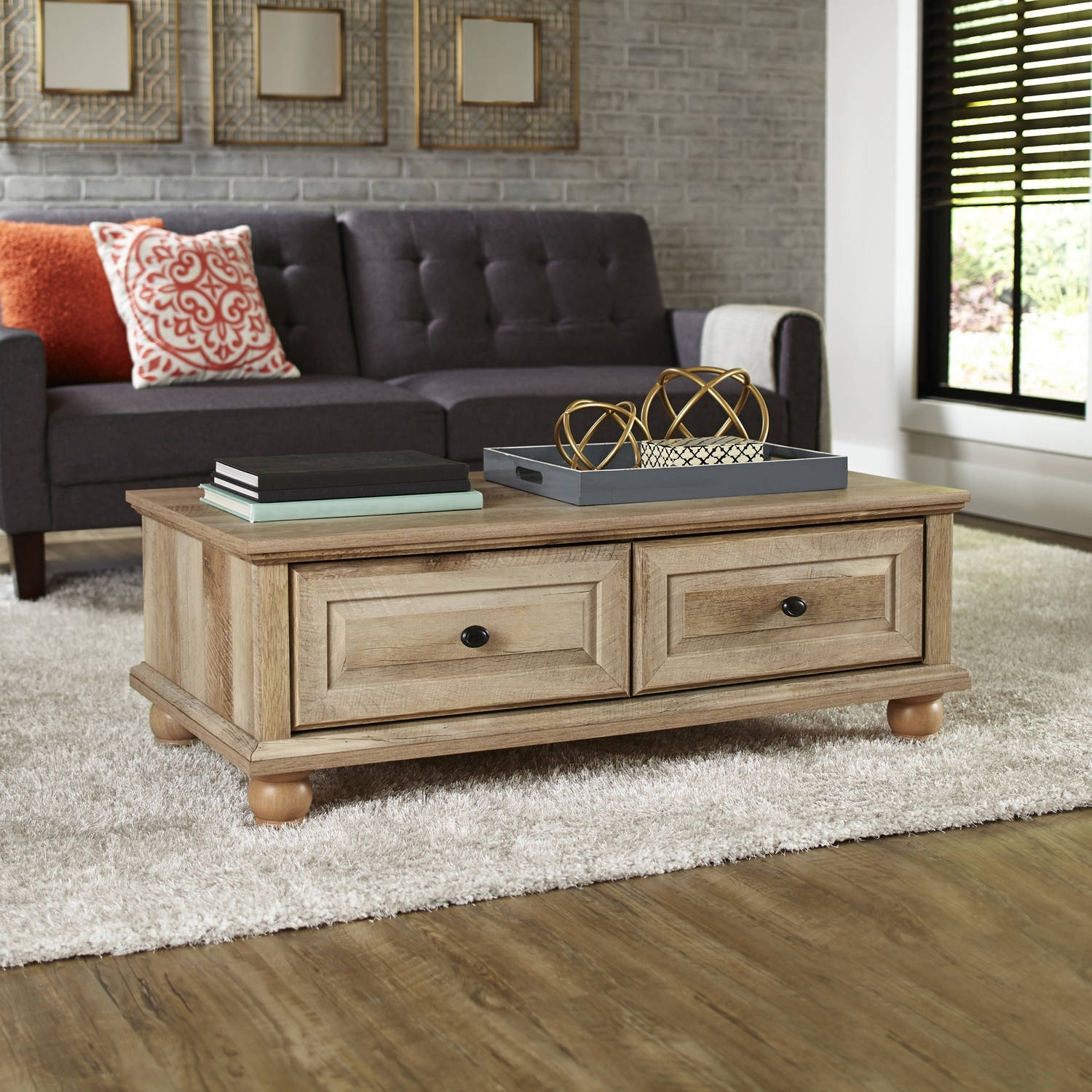 Better Homes And Gardens Crossmill Coffee Table, Multiple Finishes with regard to Mill Large Leather Coffee Tables (Image 5 of 30)