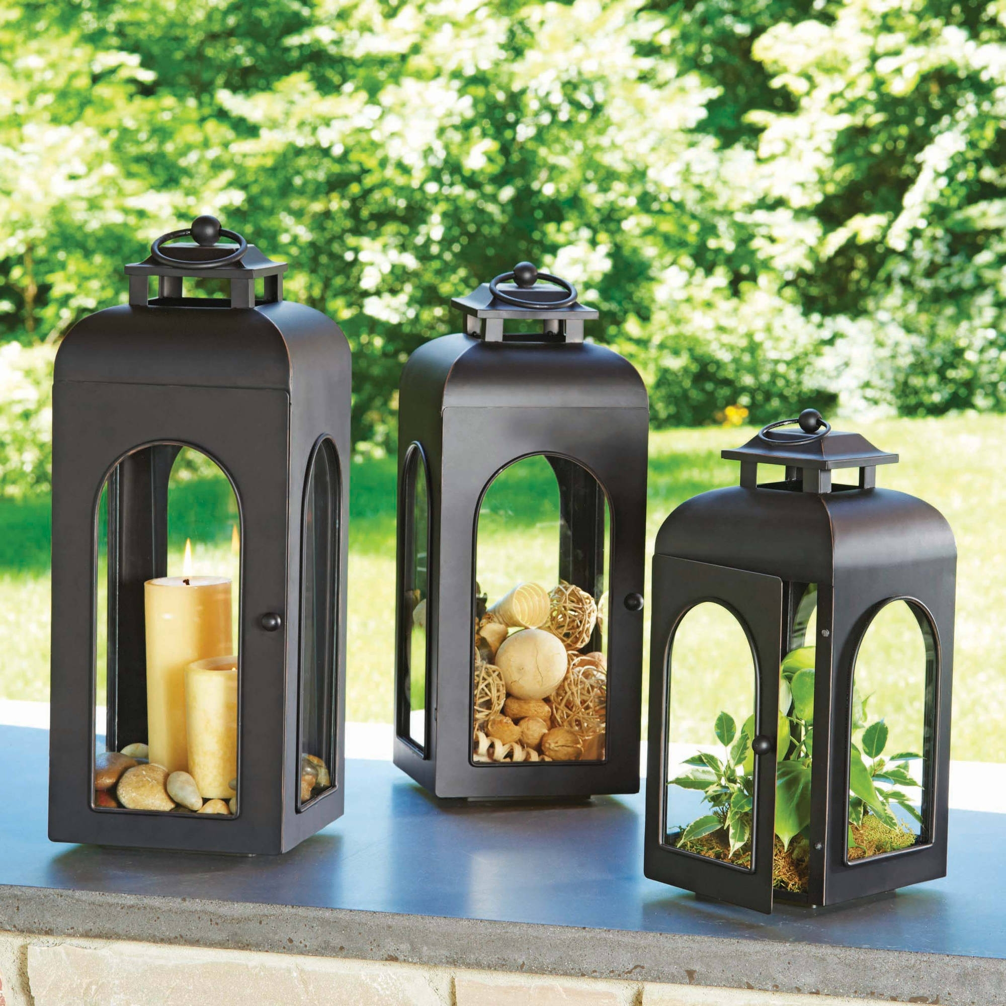 Better Homes And Gardens Domed Metal Outdoor Lantern – Walmart For Metal Outdoor Lanterns (View 3 of 20)