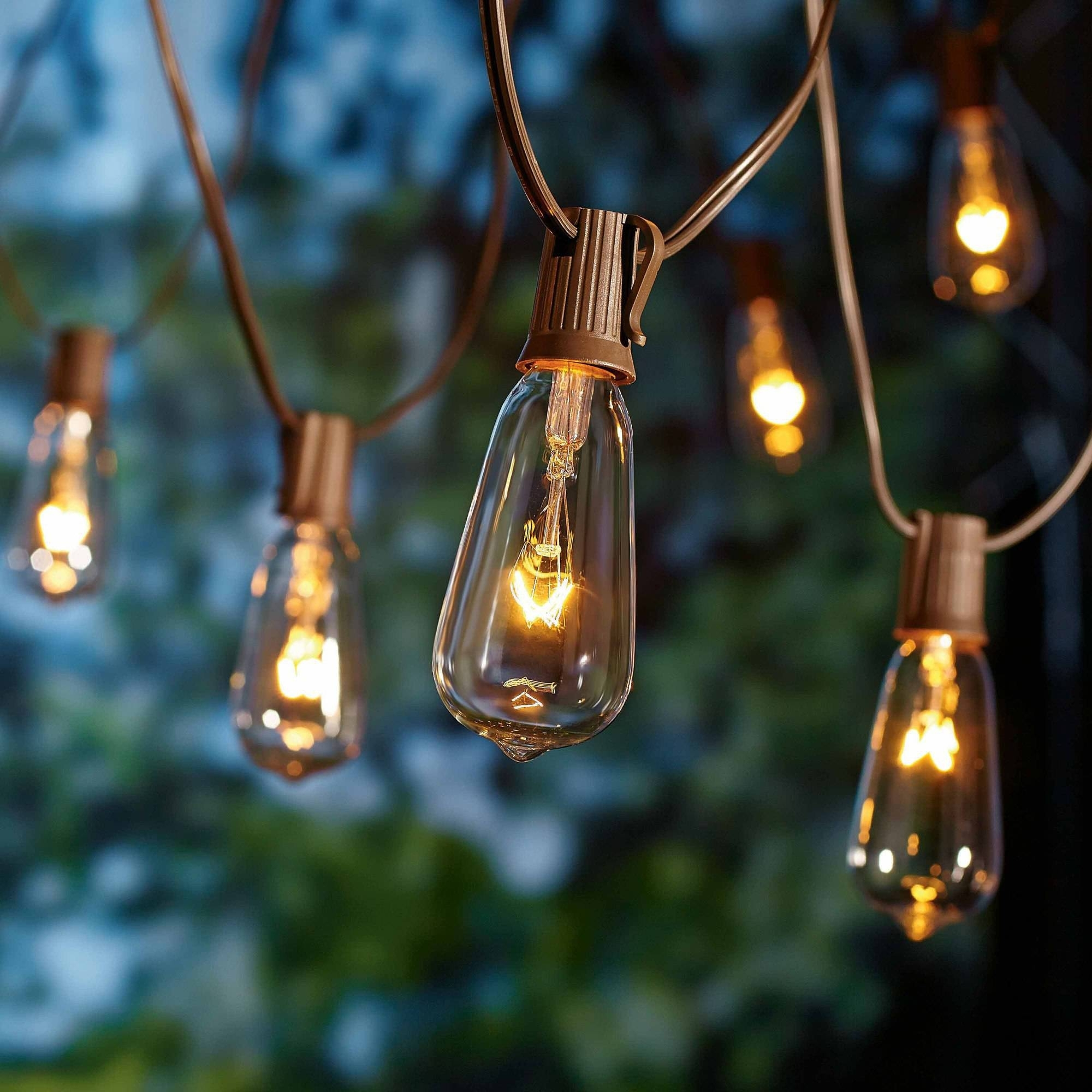 Better Homes And Gardens Outdoor Glass Edison String Lights, 10 inside Outdoor Battery Lanterns for Patio (Image 6 of 20)