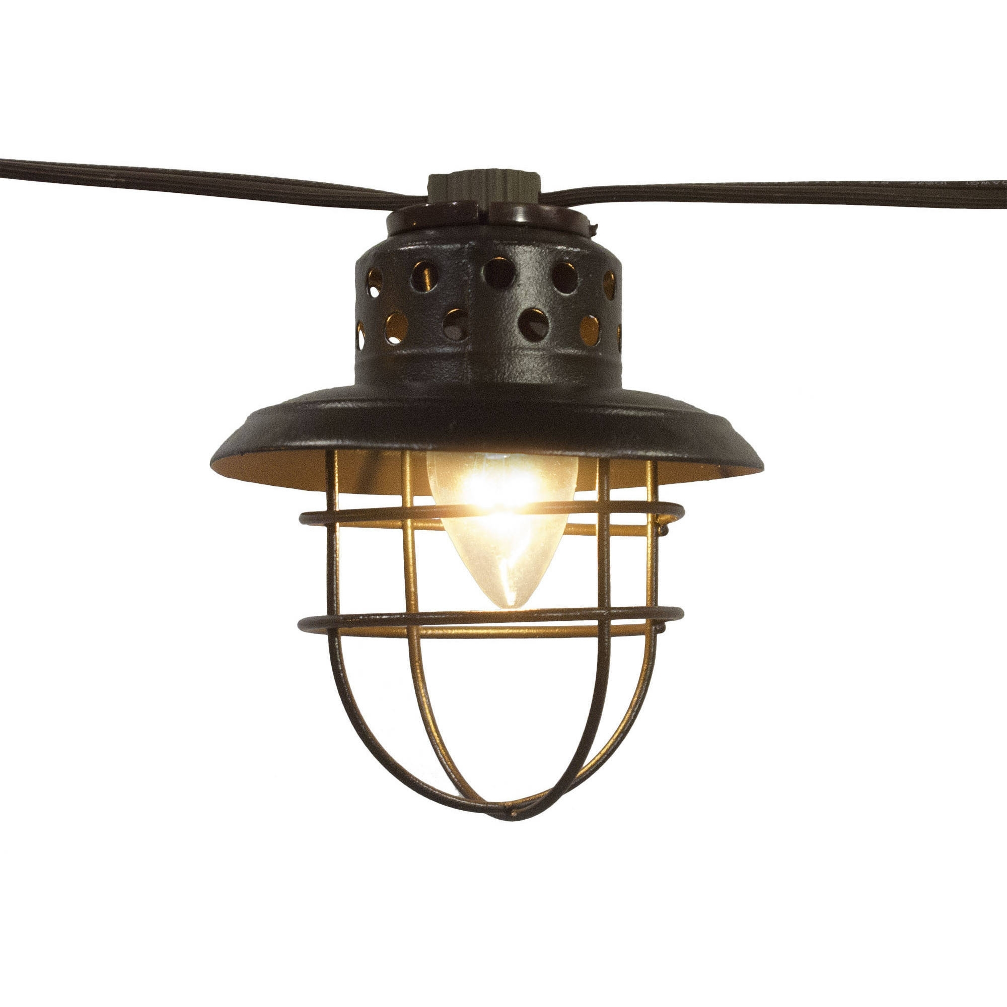 Better Homes And Gardens Outdoor Vintage Cage Lantern String Lights pertaining to Outdoor Lanterns on Stands (Image 1 of 20)