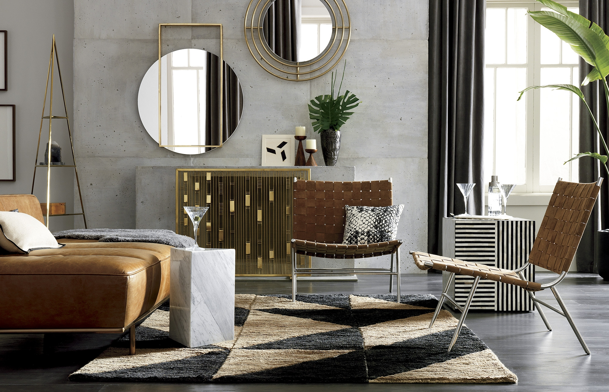 Big Dipper Floor Lamp Fresh Nicks White Hammered Side Table Big with Joni Brass and Wood Coffee Tables (Image 1 of 30)