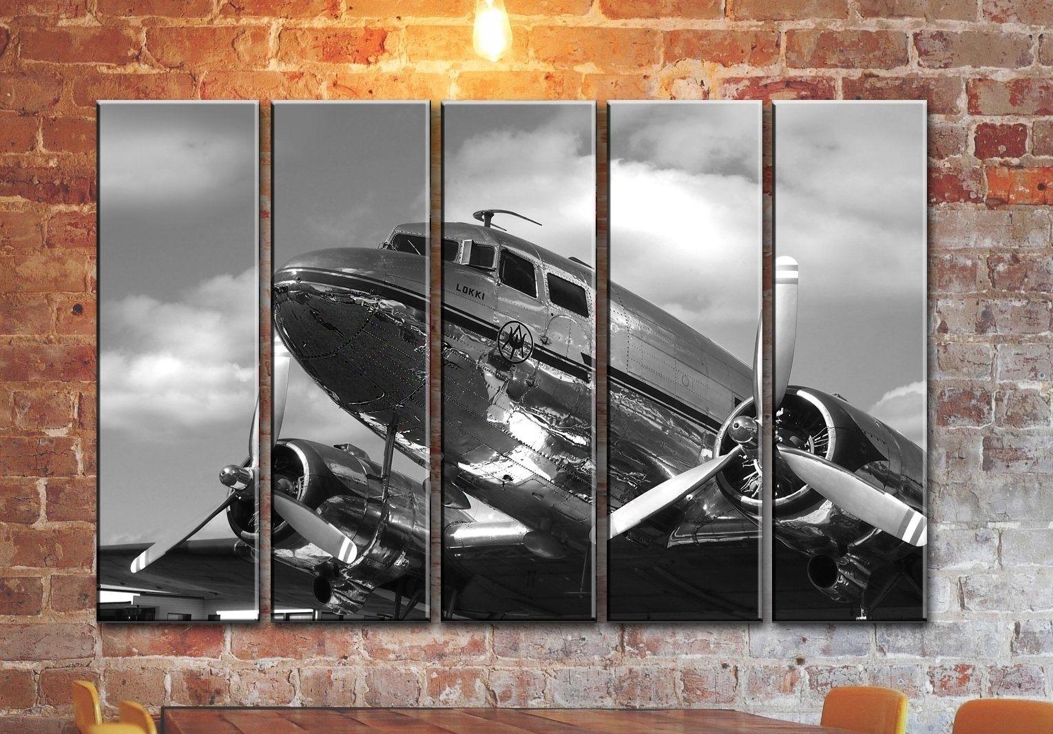 Big Set Airplane Canvas Wall Art / Aircraft Canvas Wall Art intended for Aviation Wall Art (Image 10 of 20)