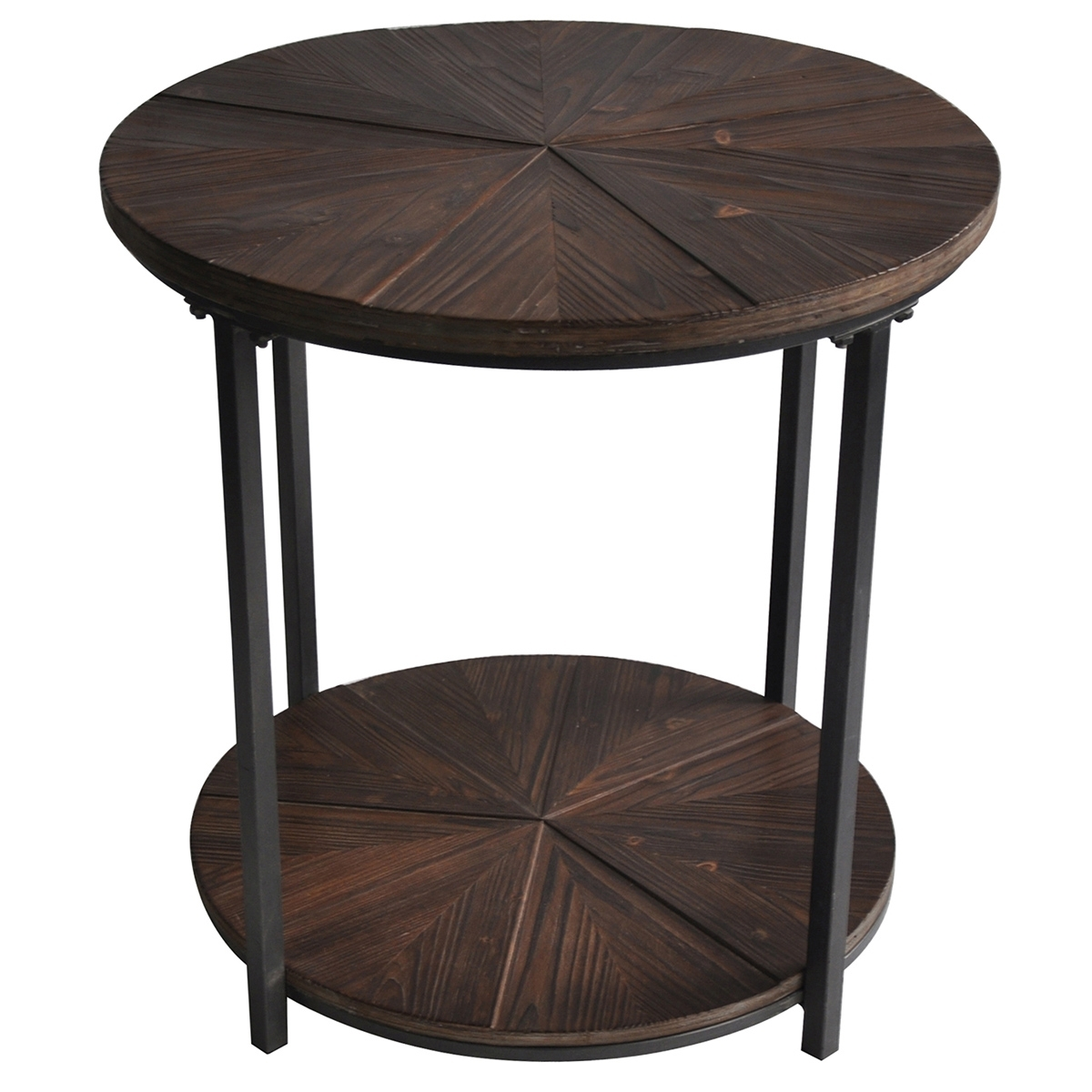 Big Trunk : The Terrific Fun Black Metal And Wood End Tables Image with Jackson Marble Side Tables (Image 6 of 30)