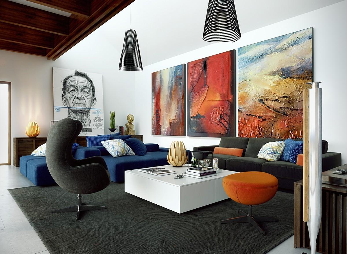 Big Wall Decor Ideas Unique Wall Art For Living Rooms Ideas regarding Big Wall Art (Image 7 of 20)