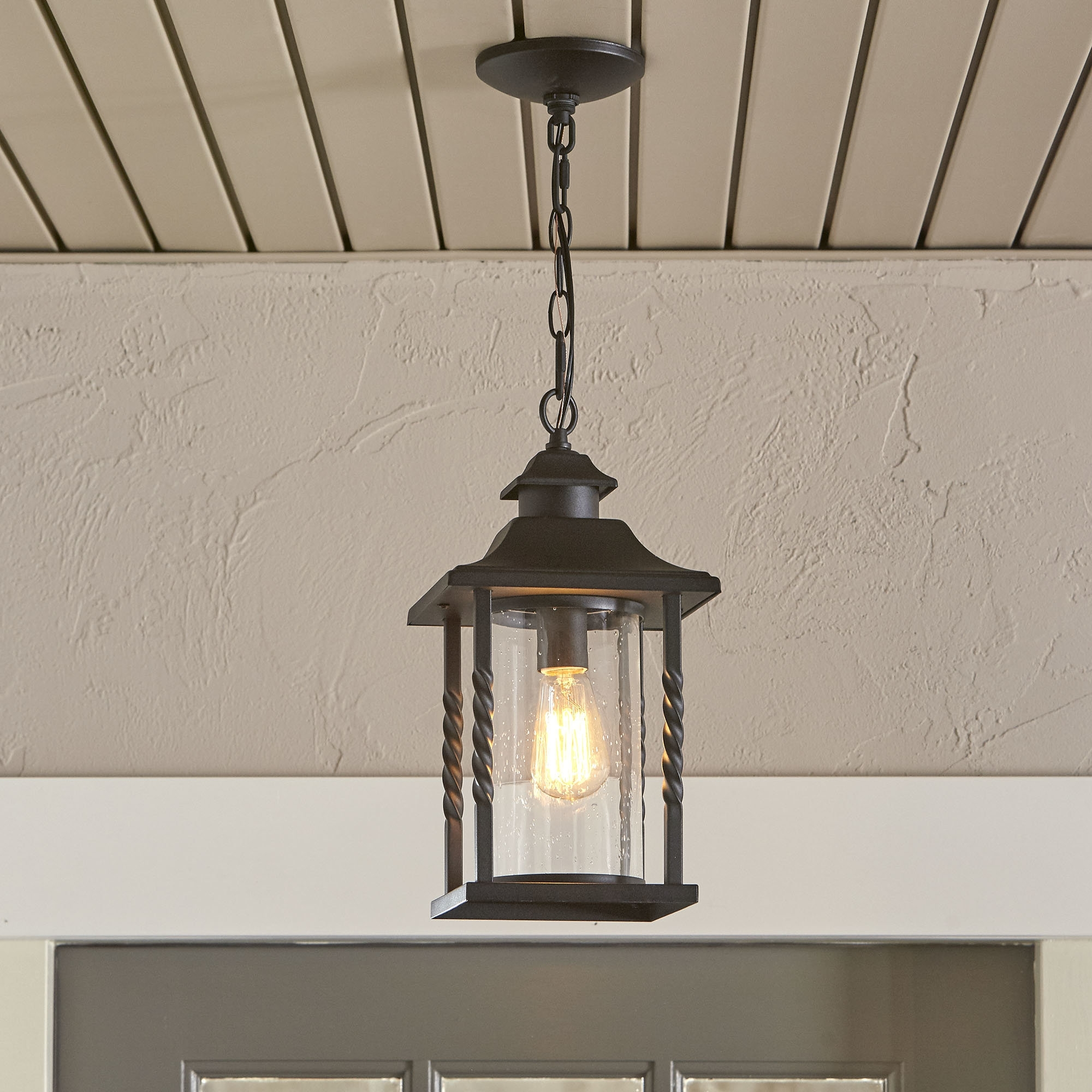 Birch Lane™ Barrow 1 Light Outdoor Hanging Lantern & Reviews Within Outdoor Mosaic Lanterns (View 3 of 20)