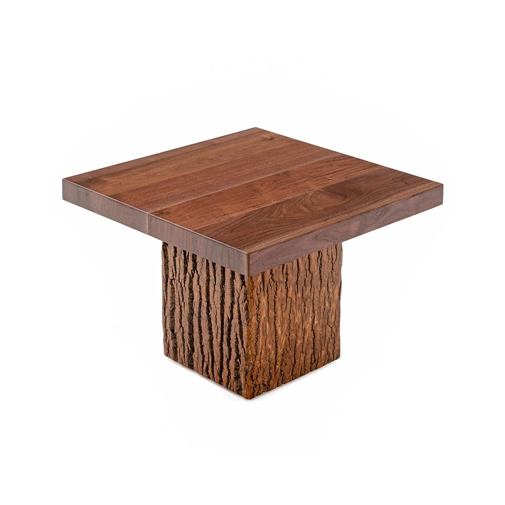 Birchmere Accent Table-Walnut Waterfall Top-Tm Designs regarding Square Waterfall Coffee Tables (Image 2 of 30)