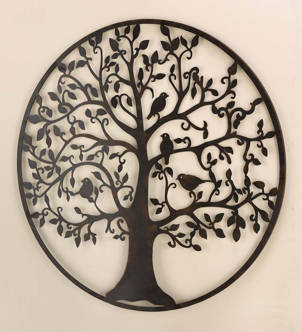 Bird Tree Wall Art In Metal | Birds And Trees Make This Metal Wall within Metal Tree Wall Art (Image 4 of 21)