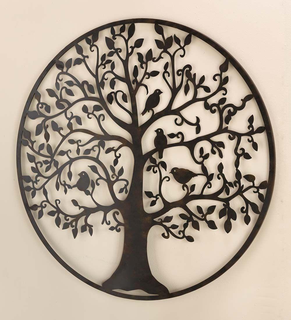 Bird Tree Wall Art In Metal | Birds And Trees Make This Metal Wall within Metal Tree Wall Art (Image 4 of 21)