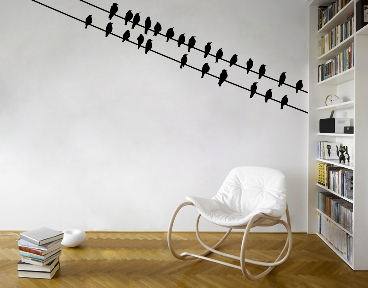 Birds Corner – Your Decal Shop | Nz Designer Wall Art Decals | Wall within Corner Wall Art (Image 3 of 20)