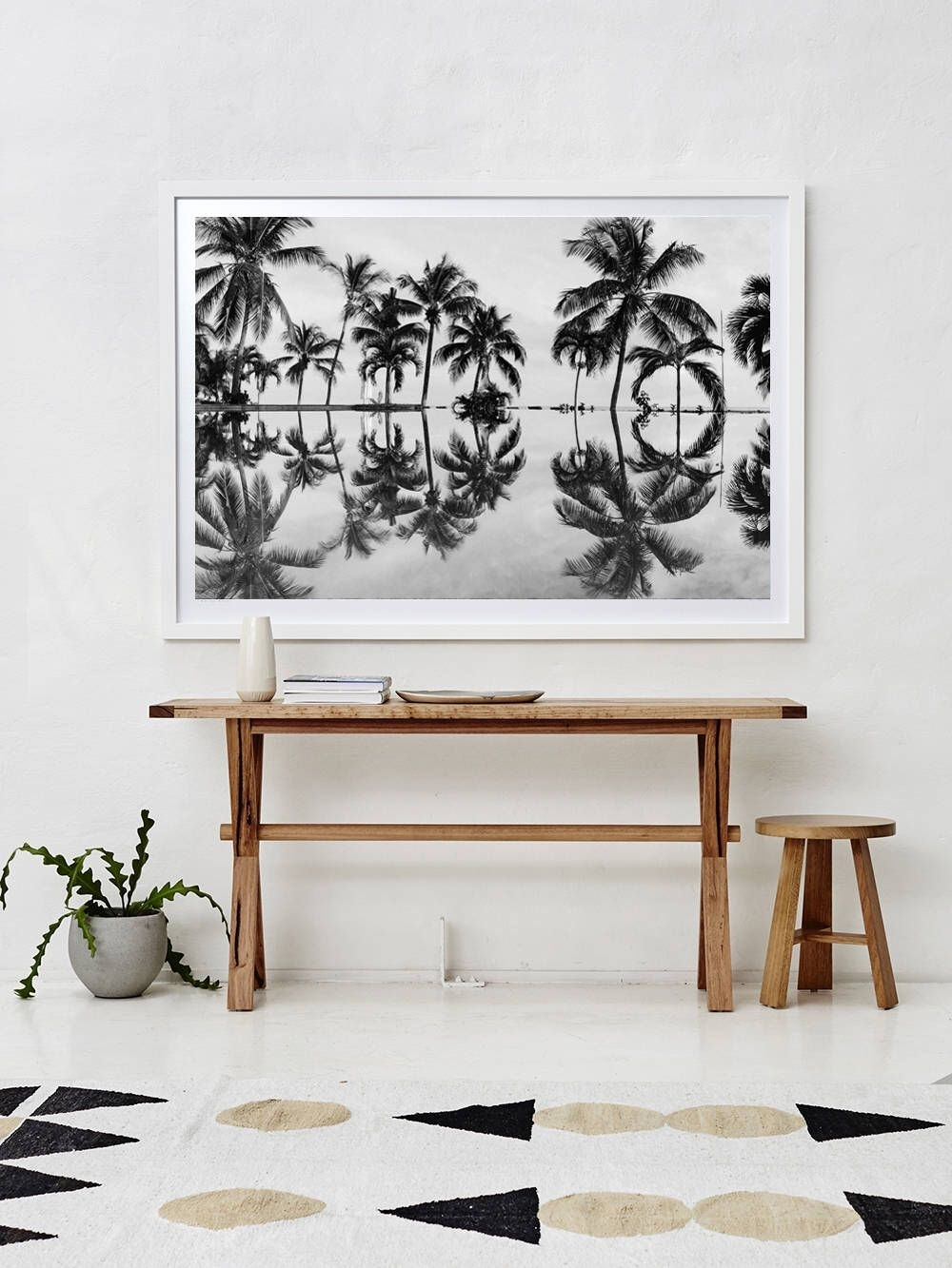Black And White Print, Coastal Decor Print, Tropical Print for Coastal Wall Art (Image 5 of 20)