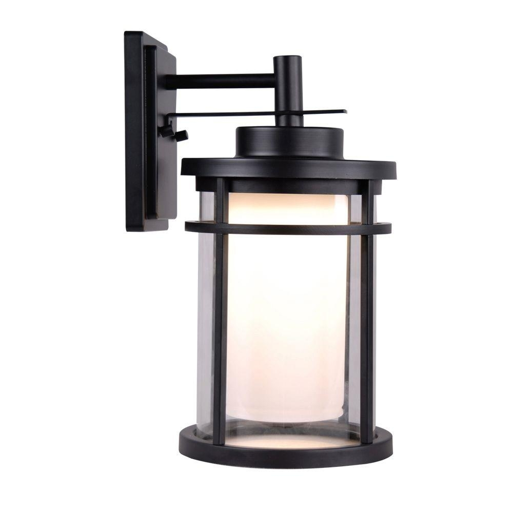 Black Home Decorators Collection Outdoor Lanterns Sconces Dwbk within Outdoor Lanterns and Sconces (Image 4 of 20)