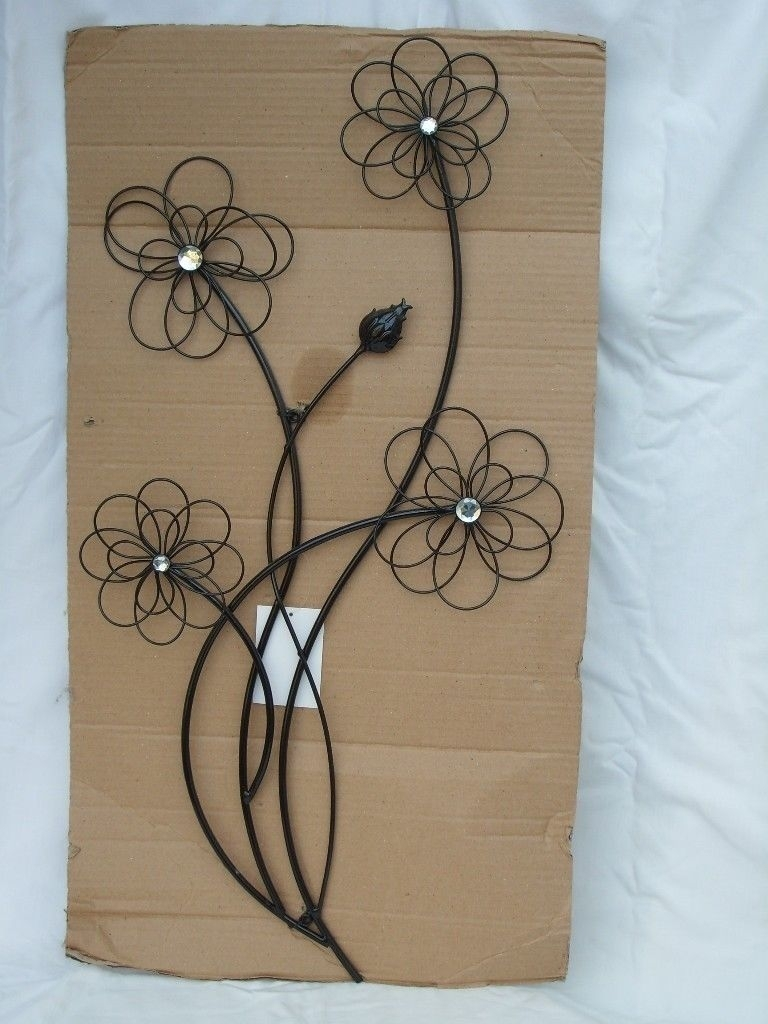 Black Metal Flowers Wall Art – New! | In Wimbledon, London | Gumtree Inside Metal Flower Wall Art (View 19 of 20)