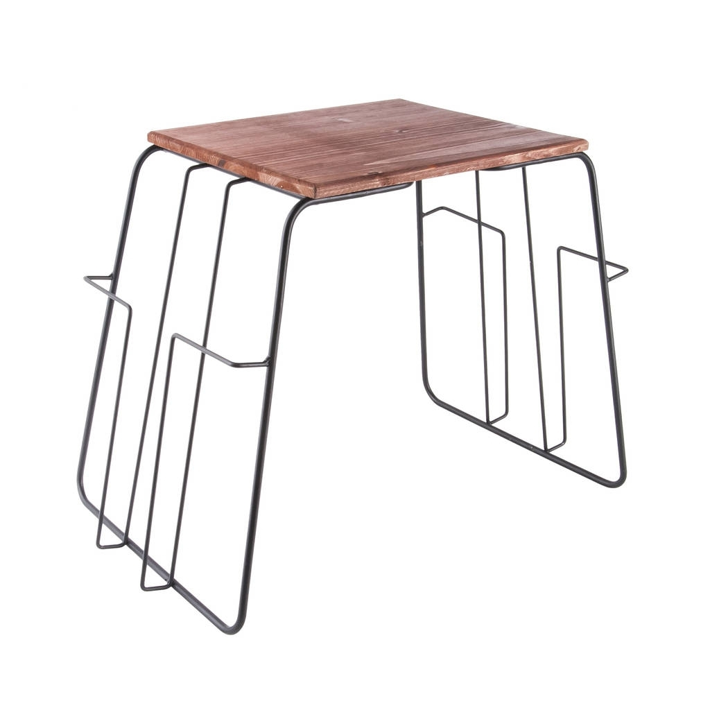 Black Wire Magazine Rack Side Tableposh Totty Designs Interiors in Black Wire Coffee Tables (Image 4 of 30)