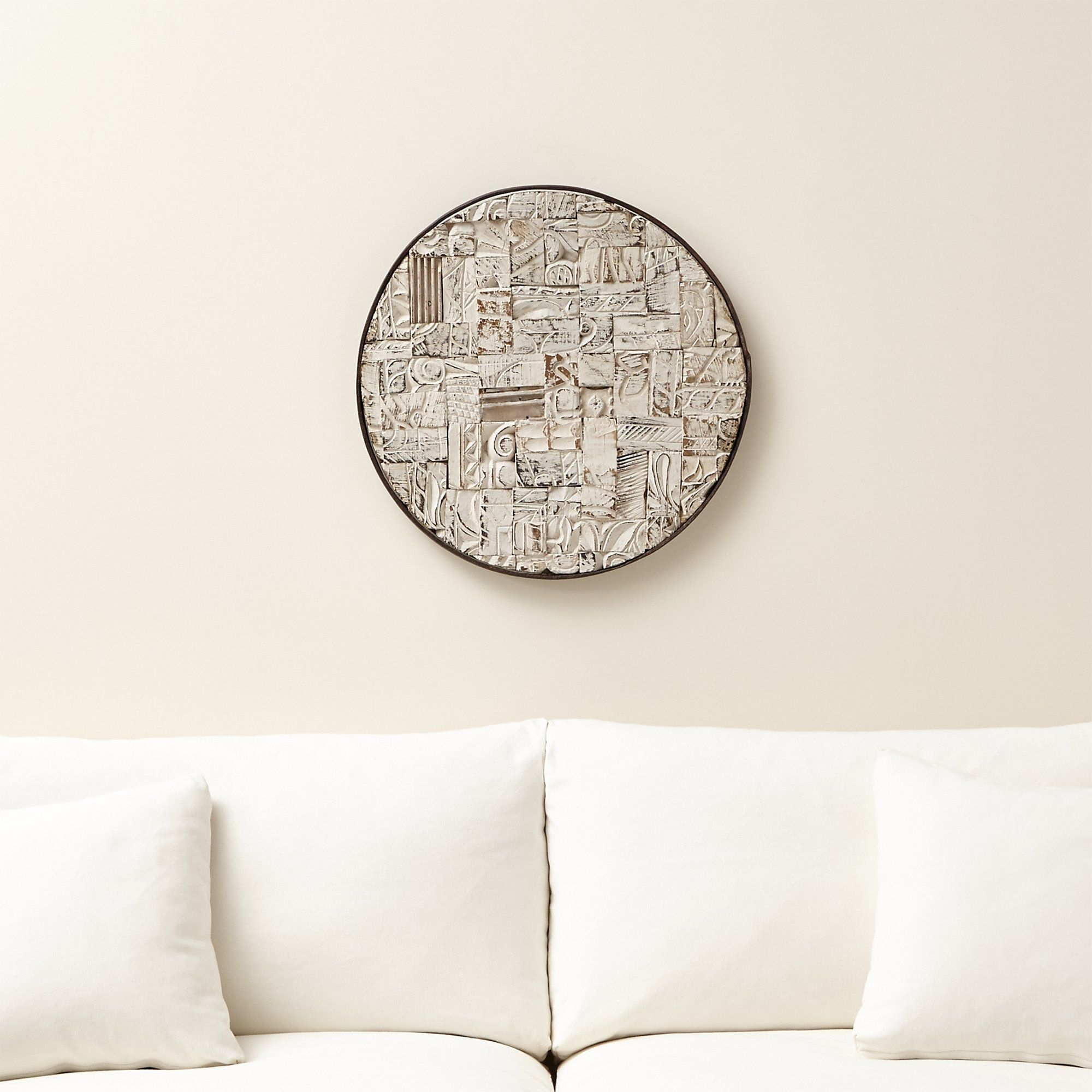 Block Print Reclaimed Wood Wall Art - Crate And Barrel | Reclaimed in Crate And Barrel Wall Art (Image 4 of 20)