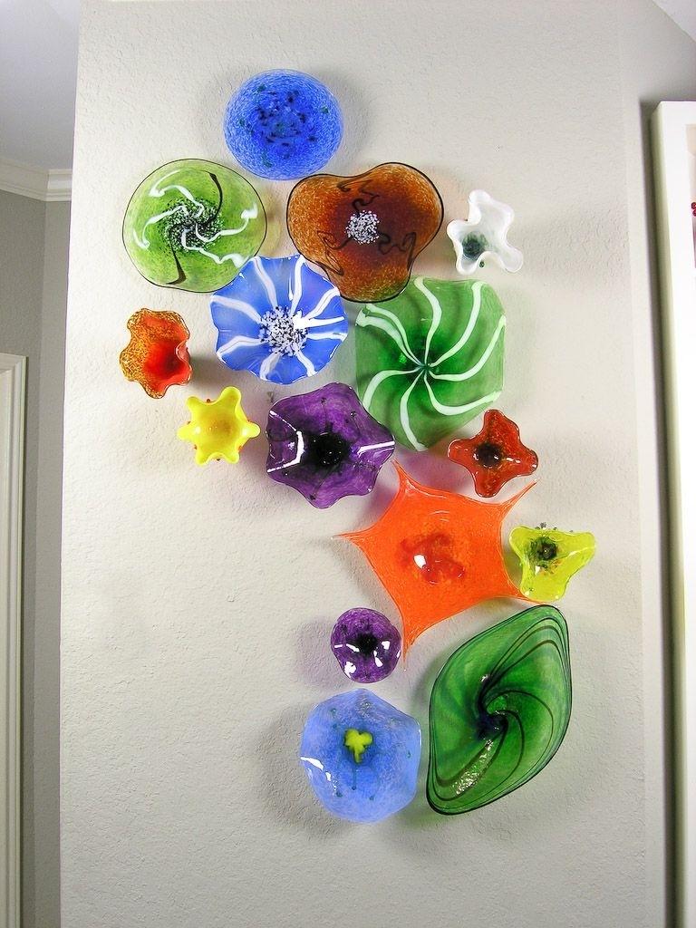 Blown Glass Flower Wall Art | Glass Art | Pinterest | Blown Glass within Glass Wall Art (Image 3 of 20)