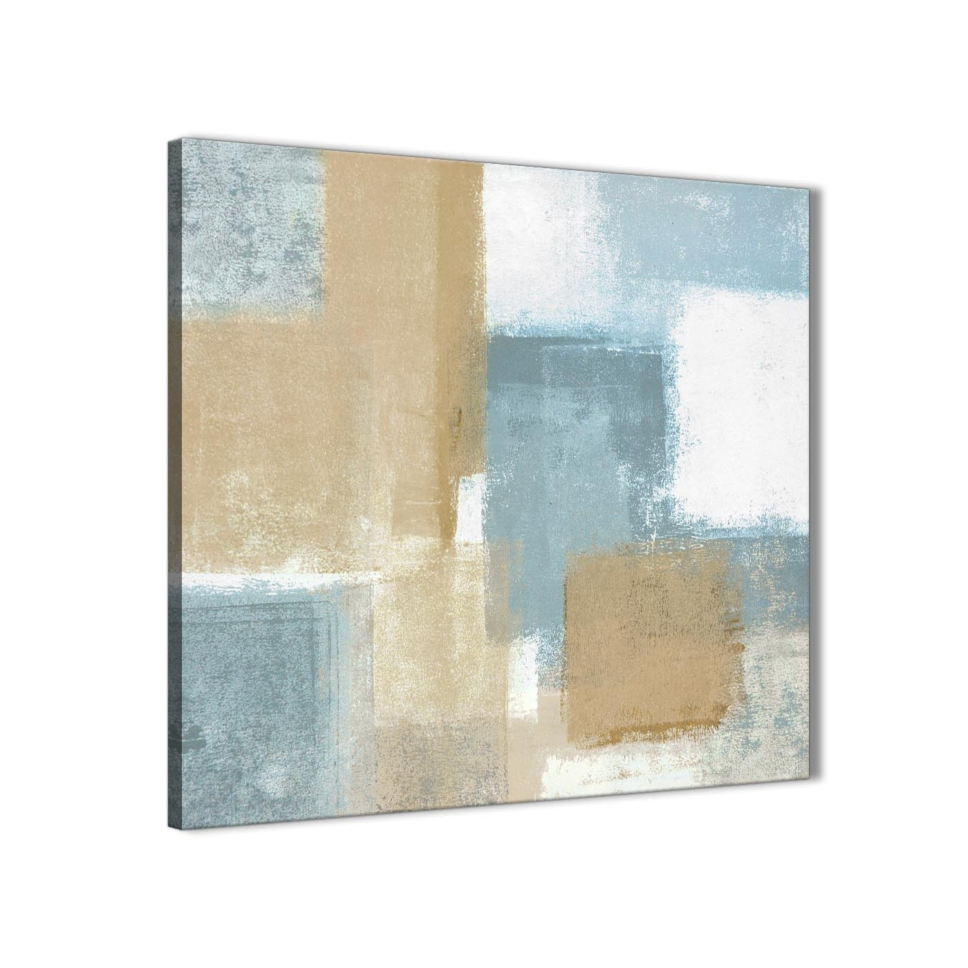 Blue Beige Brown Abstract Painting Canvas Wall Art Print - Modern inside Modern Painting Canvas Wall Art (Image 11 of 20)