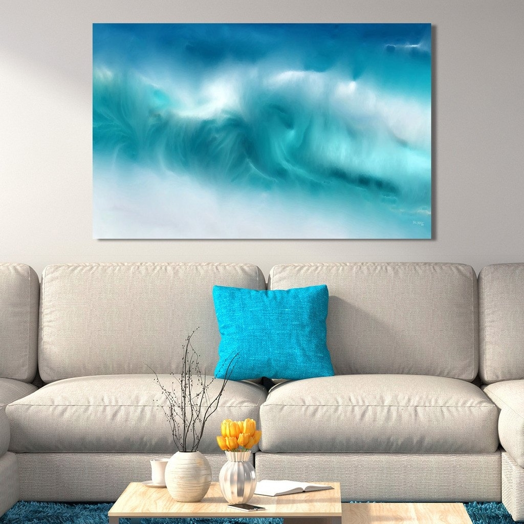 Blue Ocean Panoramic Wall Art : Andrews Living Arts - Masculine for Panoramic Wall Art (Image 3 of 20)