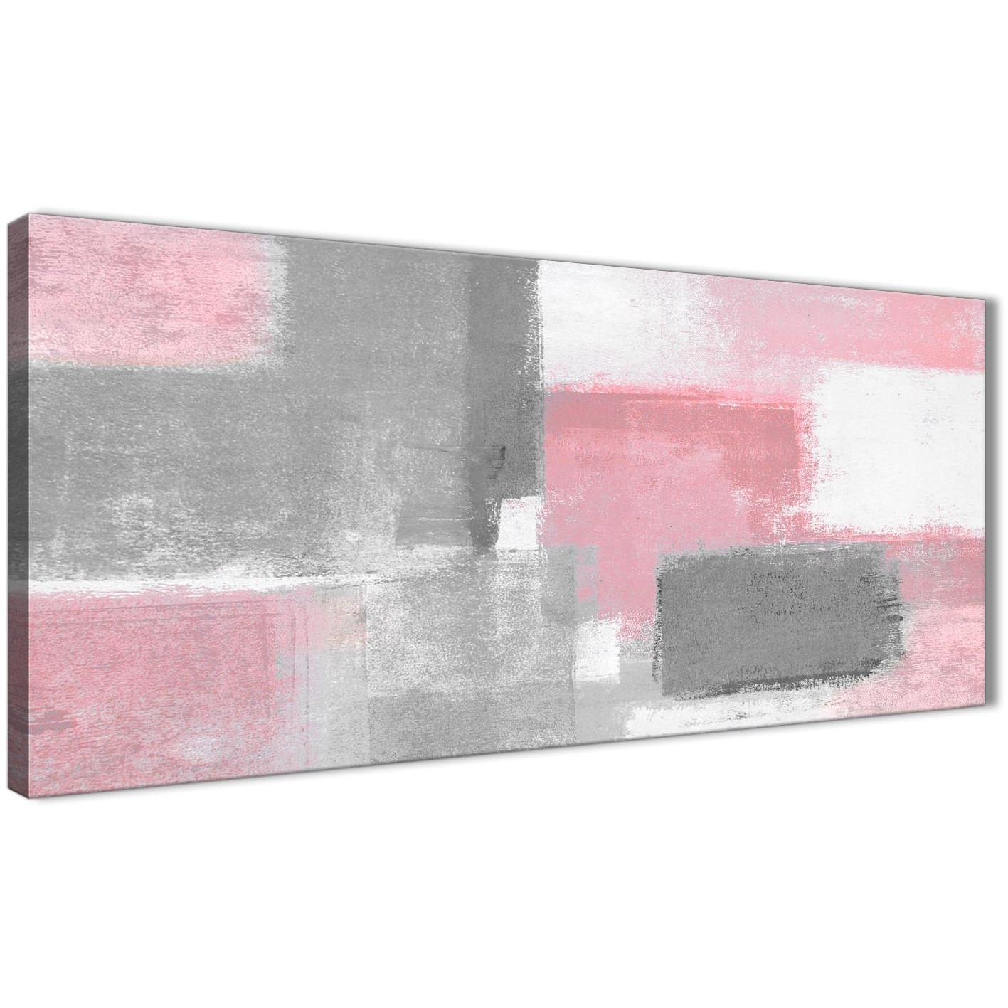 Blush Pink Grey Painting Bedroom Canvas Wall Art Accessories for Pink Wall Art (Image 6 of 20)