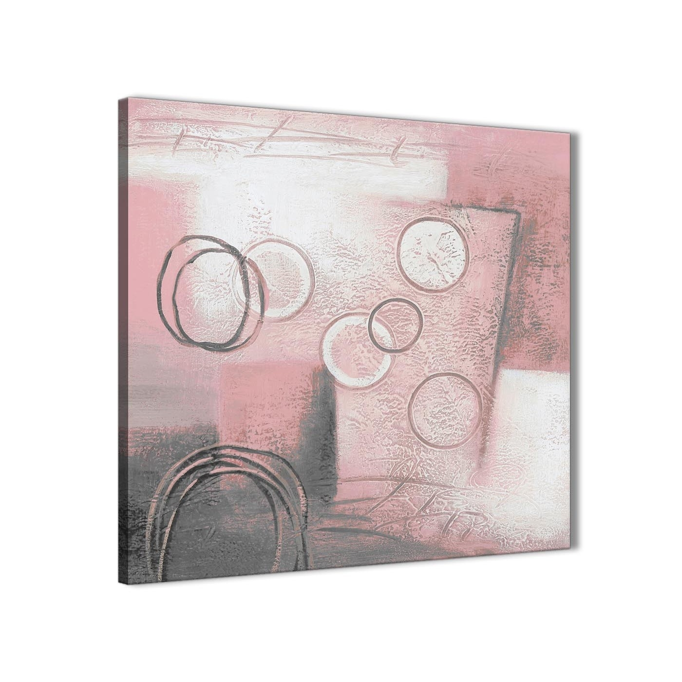 Blush Pink Grey Painting Kitchen Canvas Pictures Accessories in Bathroom Canvas Wall Art (Image 9 of 20)