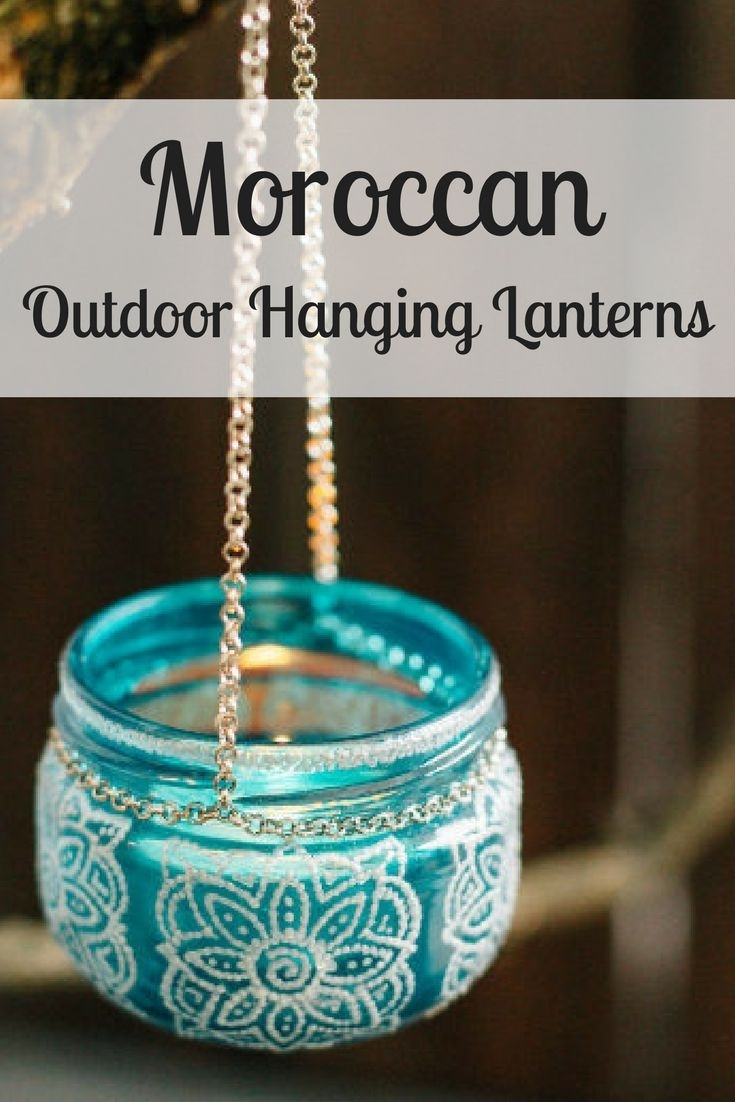 Bohemian Hanging Jar Candle Lantern | Bohemian Decor | Moroccan Inside Colorful Outdoor Lanterns (View 2 of 20)