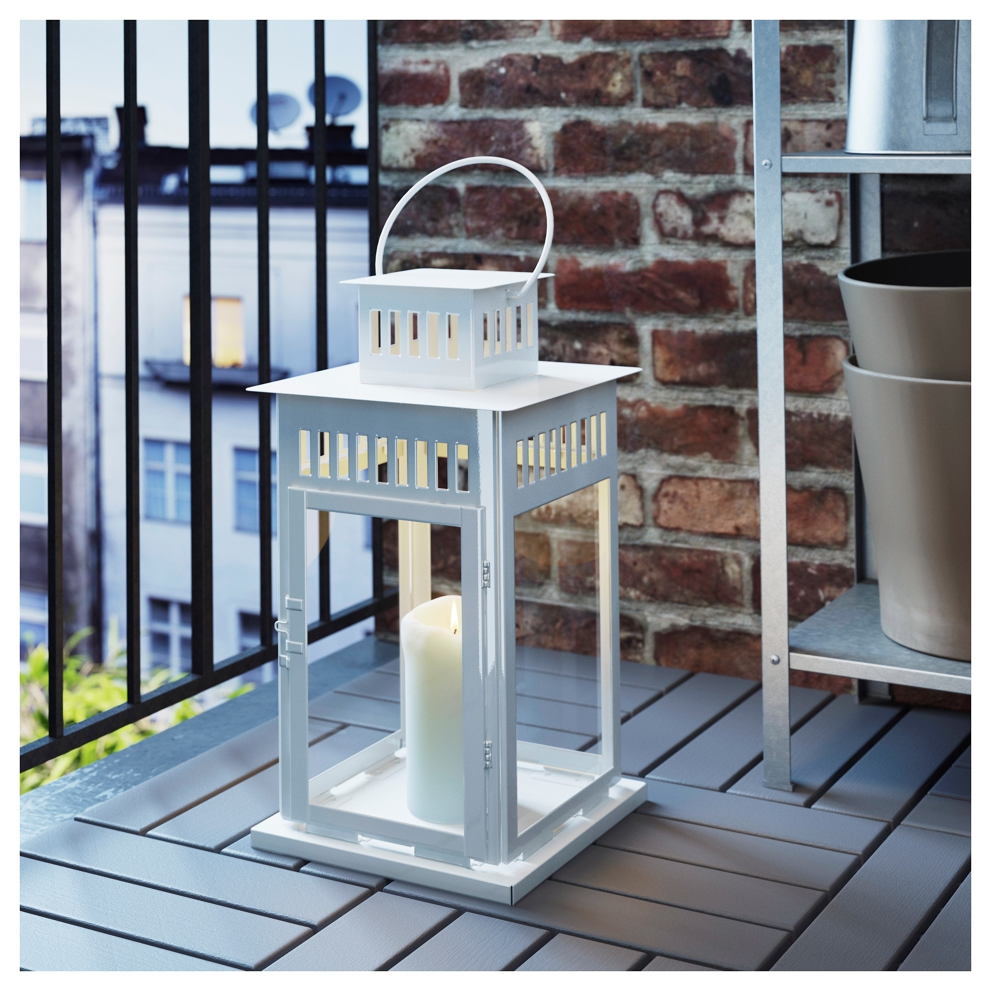 Borrby Lantern For Block Candle - Ikea throughout Ikea Outdoor Lanterns (Image 2 of 20)