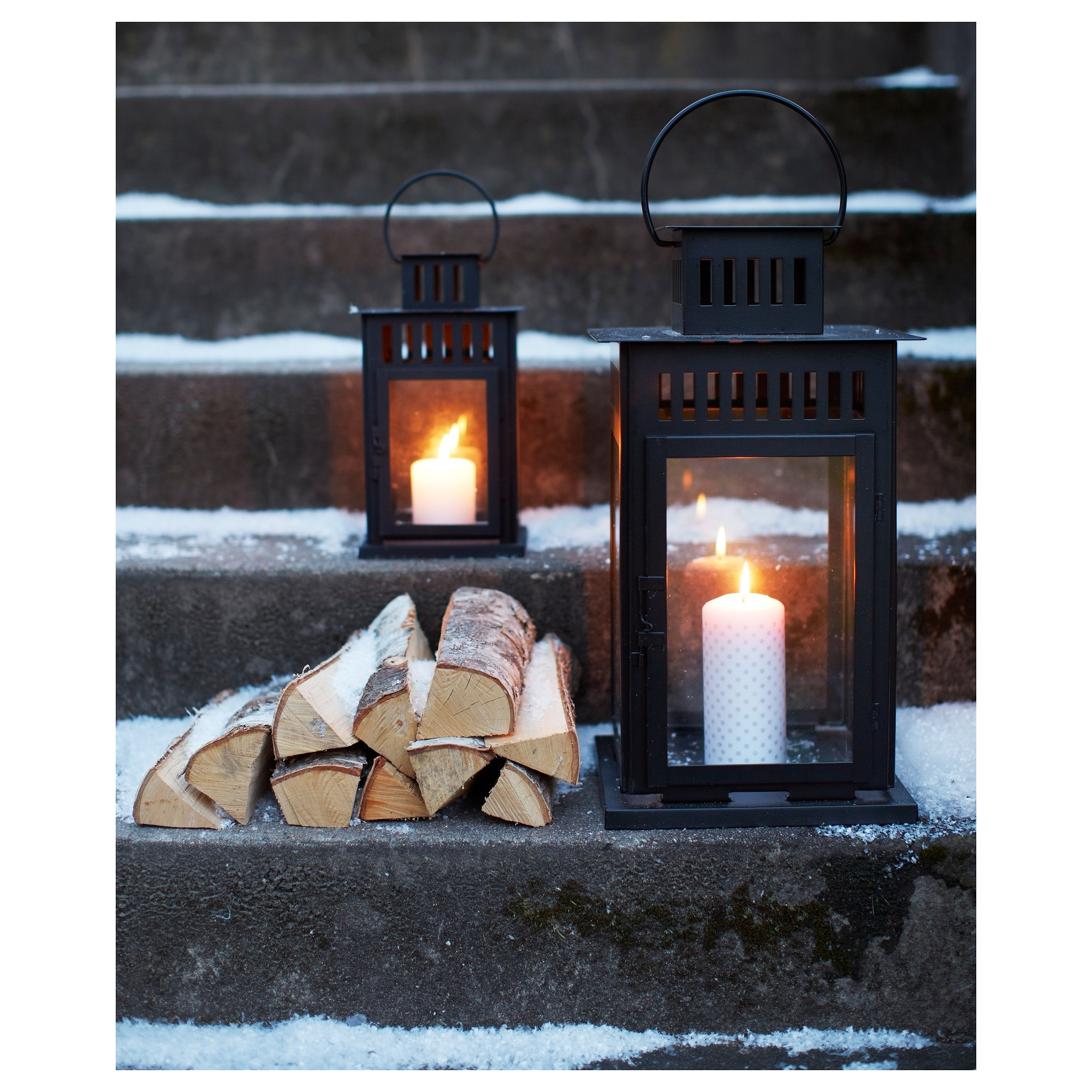 Borrby Lantern For Block Candle - Ikea with regard to Ikea Outdoor Lanterns (Image 3 of 20)