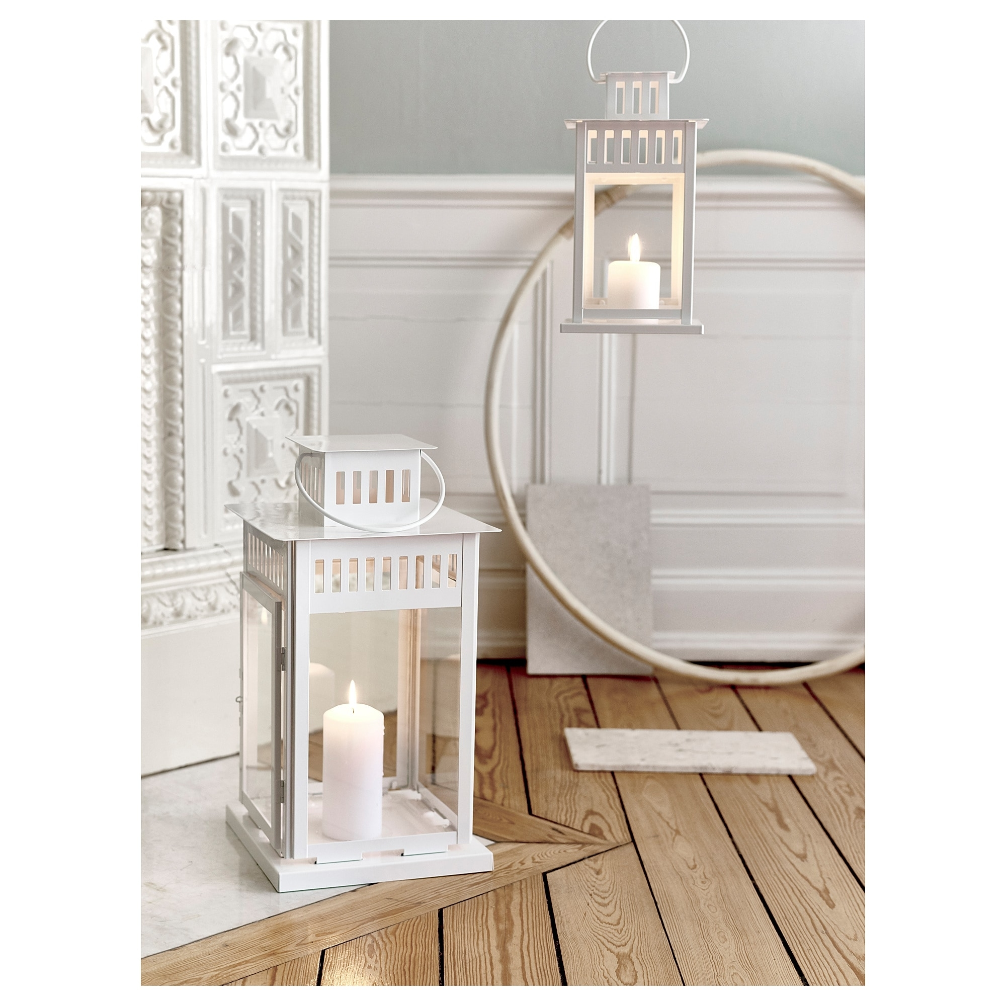 Borrby Lantern For Block Candle In/outdoor White 28 Cm - Ikea for Ikea Outdoor Lanterns (Image 5 of 20)