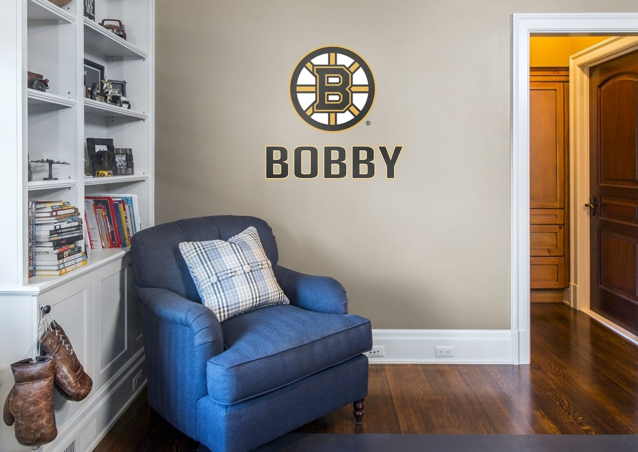 Boston Bruins Stacked Personalized Name Wall Decal | Shop Fathead With Boston Wall Art (View 19 of 20)