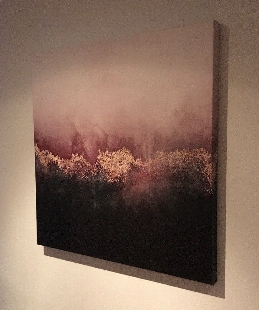 Brand New Large Abstract Canvas Wall Art – Pink, Black, Gold | In In Abstract Canvas Wall Art (View 12 of 20)