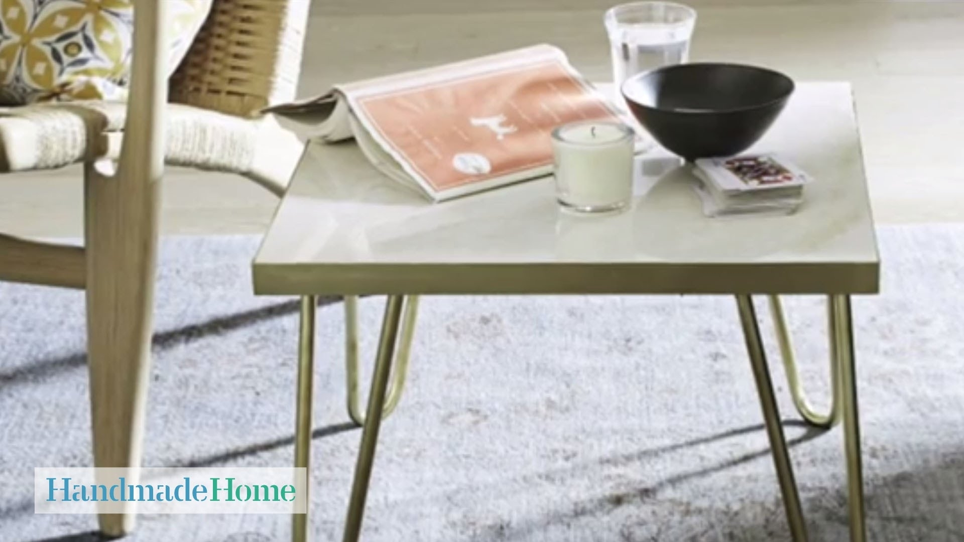 Brass-Leg Side Table Project - Handmade Home - Martha Stewart - Youtube with regard to Brass Iron Cube Tables (Image 7 of 30)