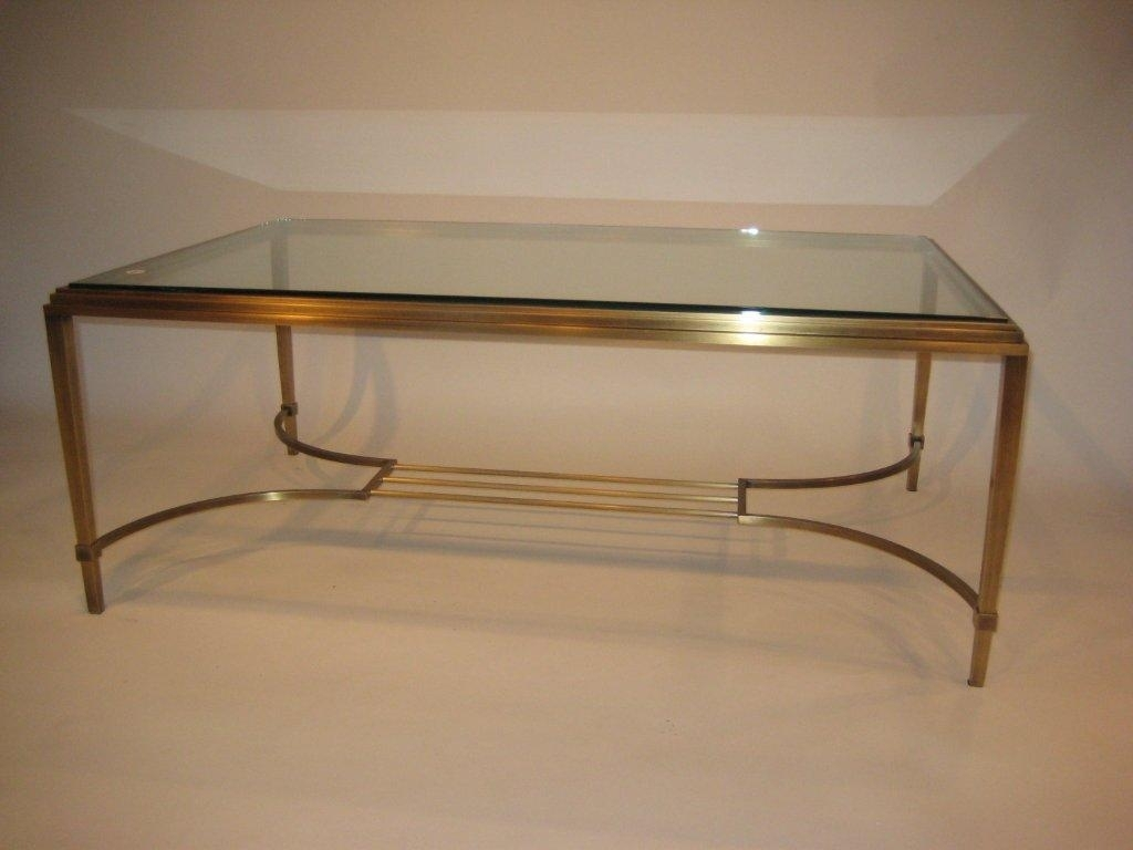 Brass Lyre Coffee Table Antique Finish | Custom Furnishings with regard to Lyre Coffee Tables (Image 8 of 30)