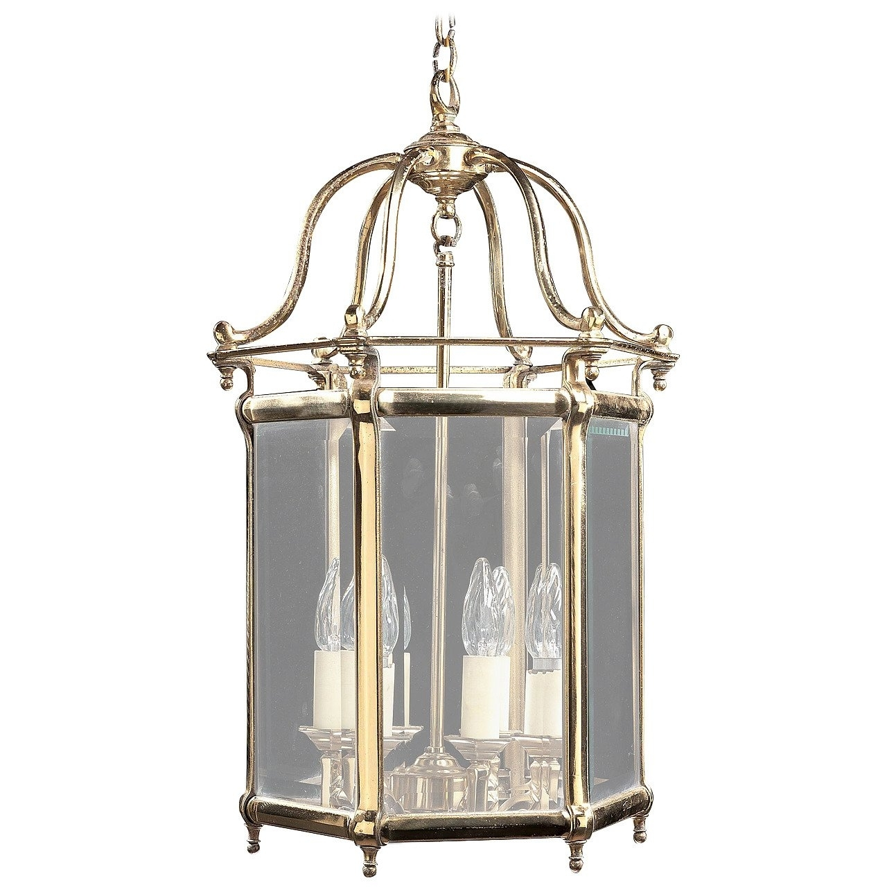Brass Outdoor Lantern Porch Light Exterior Applique Sconce, 20Th throughout Jumbo Outdoor Lanterns (Image 4 of 20)