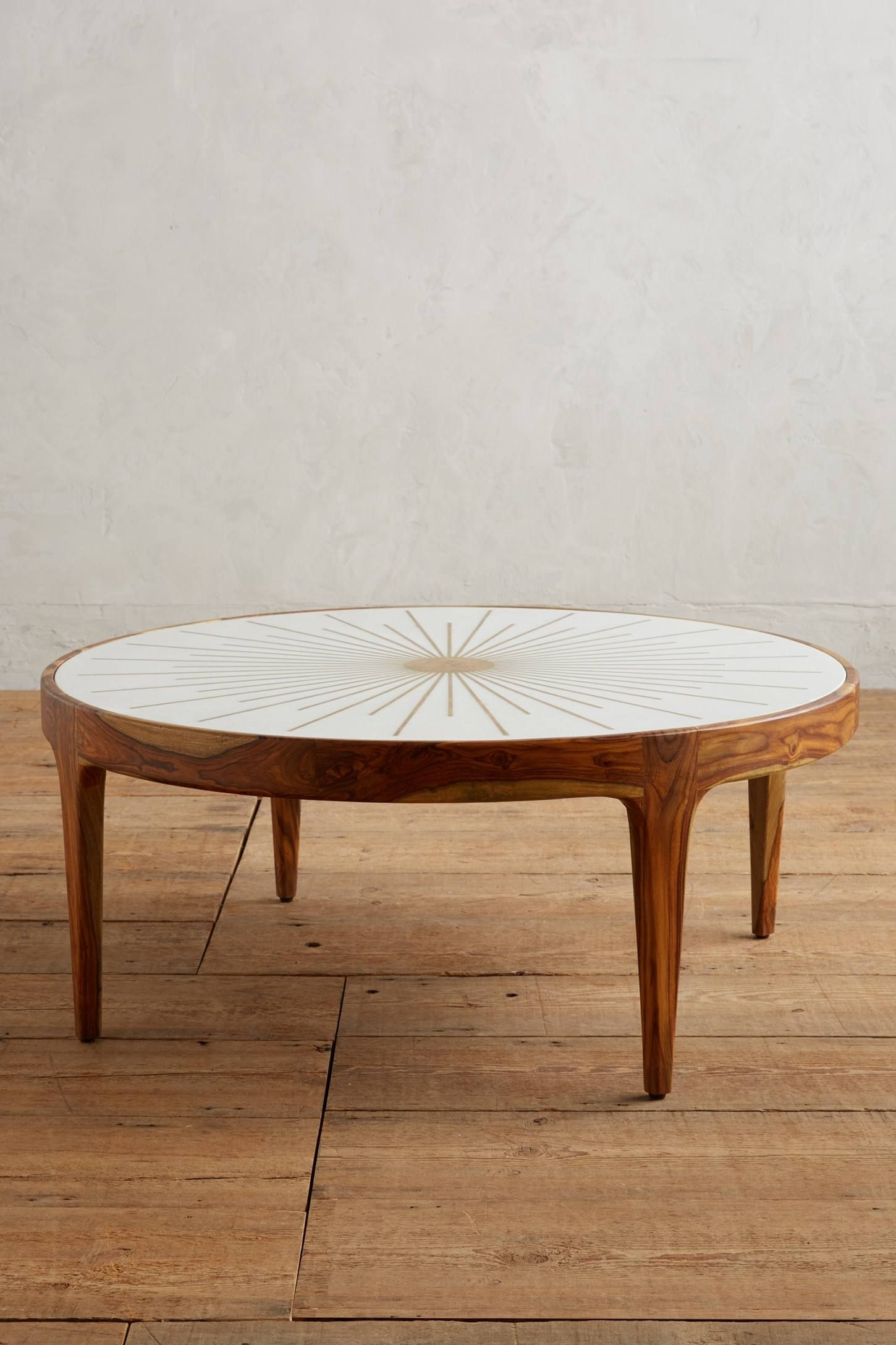Brass Starburst Round Coffee Table In 2018 | Future Home | Pinterest for Joni Brass and Wood Coffee Tables (Image 11 of 30)