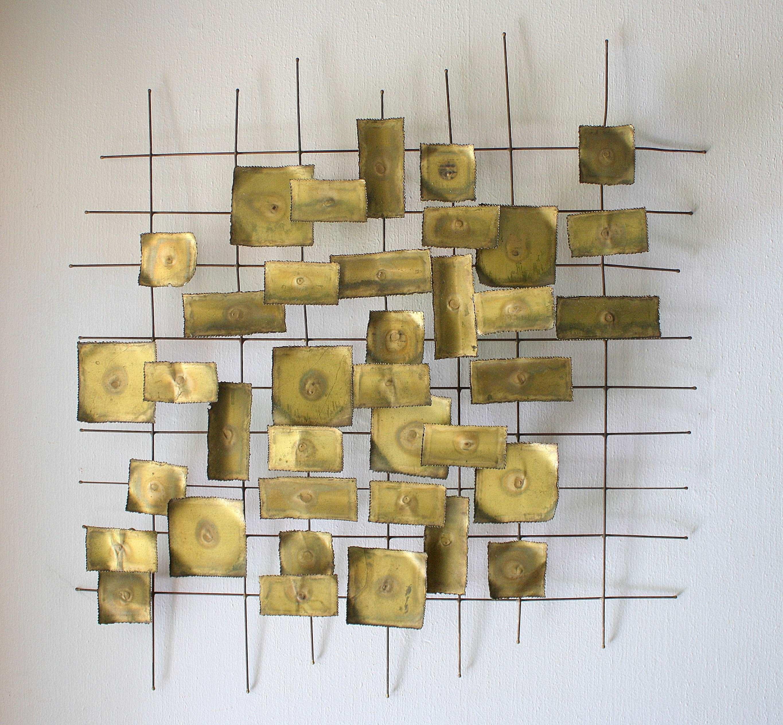 Brass Wall Art Best Of Mid Century Modern Brutalist Wall Sculpture with Mid Century Modern Wall Art (Image 4 of 20)