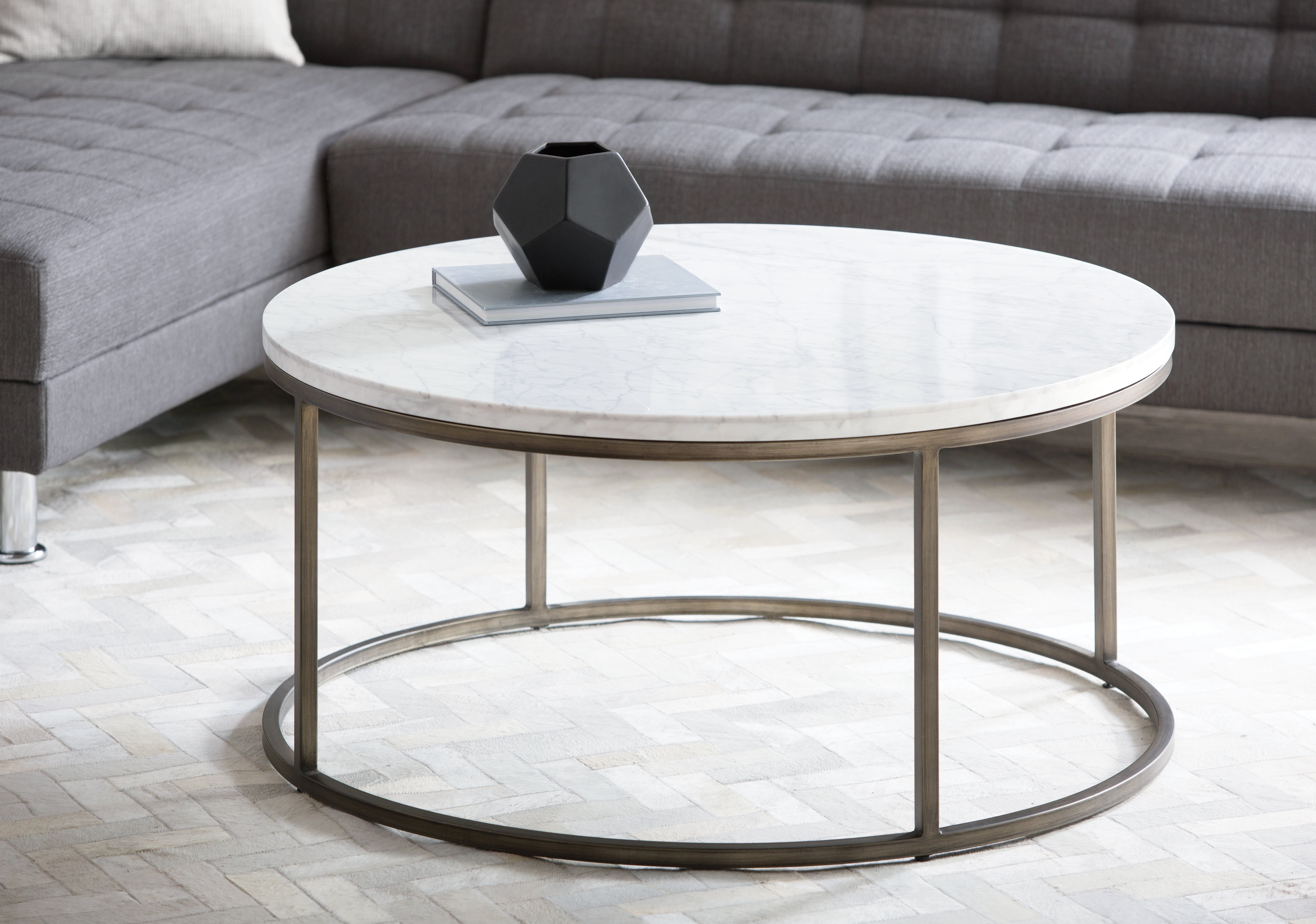 Brayden Studio Louisa Coffee Table & Reviews | Wayfair intended for 2 Tone Grey And White Marble Coffee Tables (Image 6 of 30)