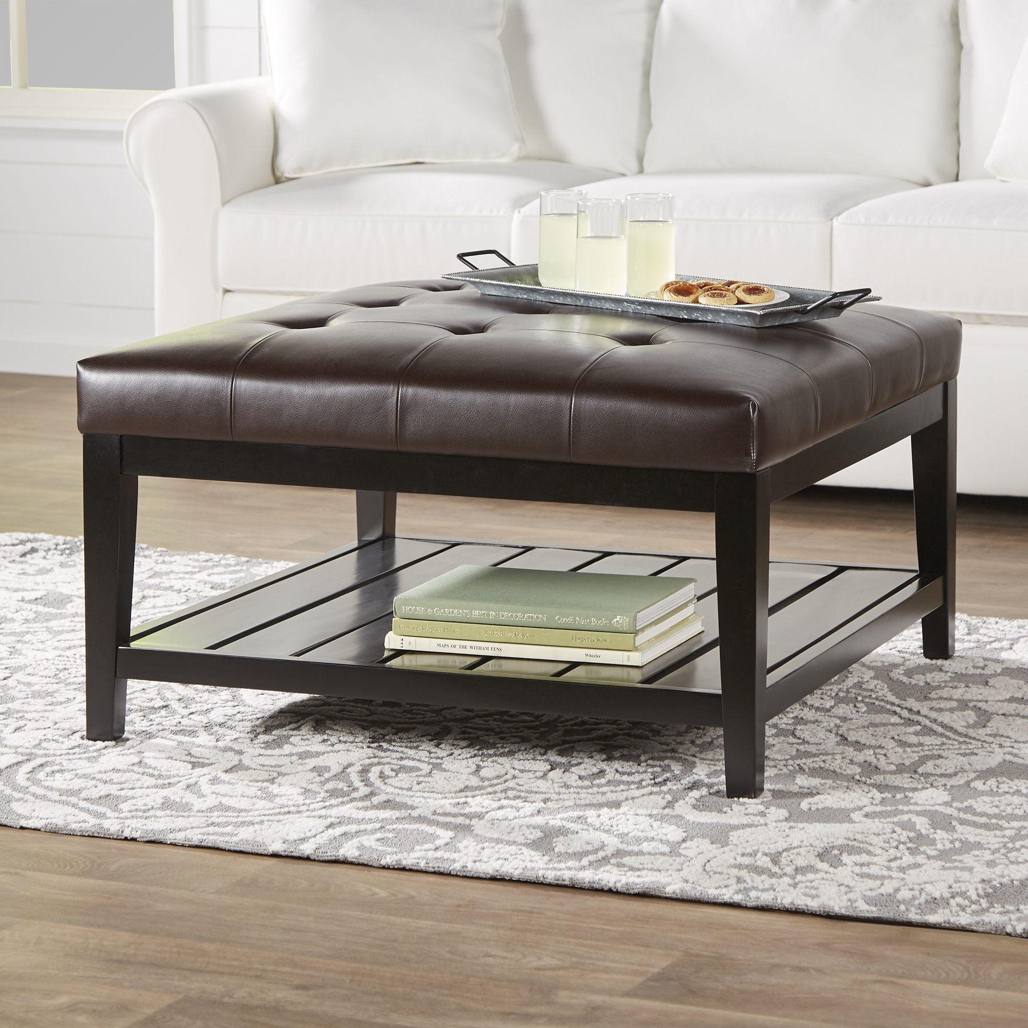 Breakwater Bay Dunlap Cocktail Ottoman & Reviews | Wayfair throughout Mill Large Leather Coffee Tables (Image 6 of 30)