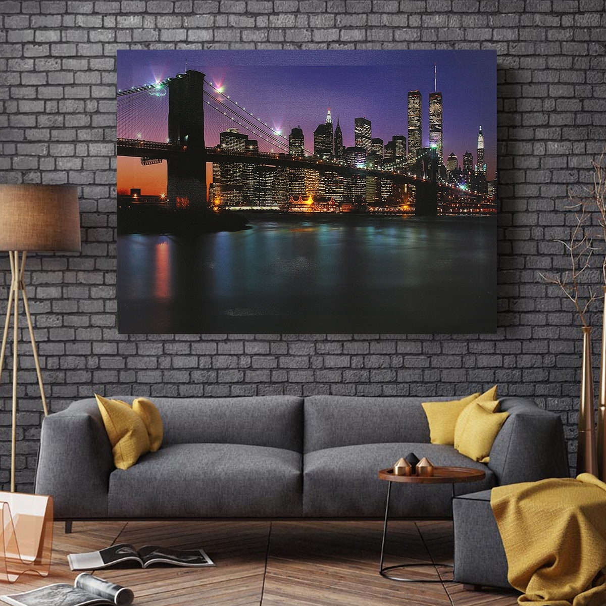 Bridge Led Light Up Canvas Painting Picture Wall Hanging, Light Up pertaining to Light Up Wall Art (Image 3 of 20)