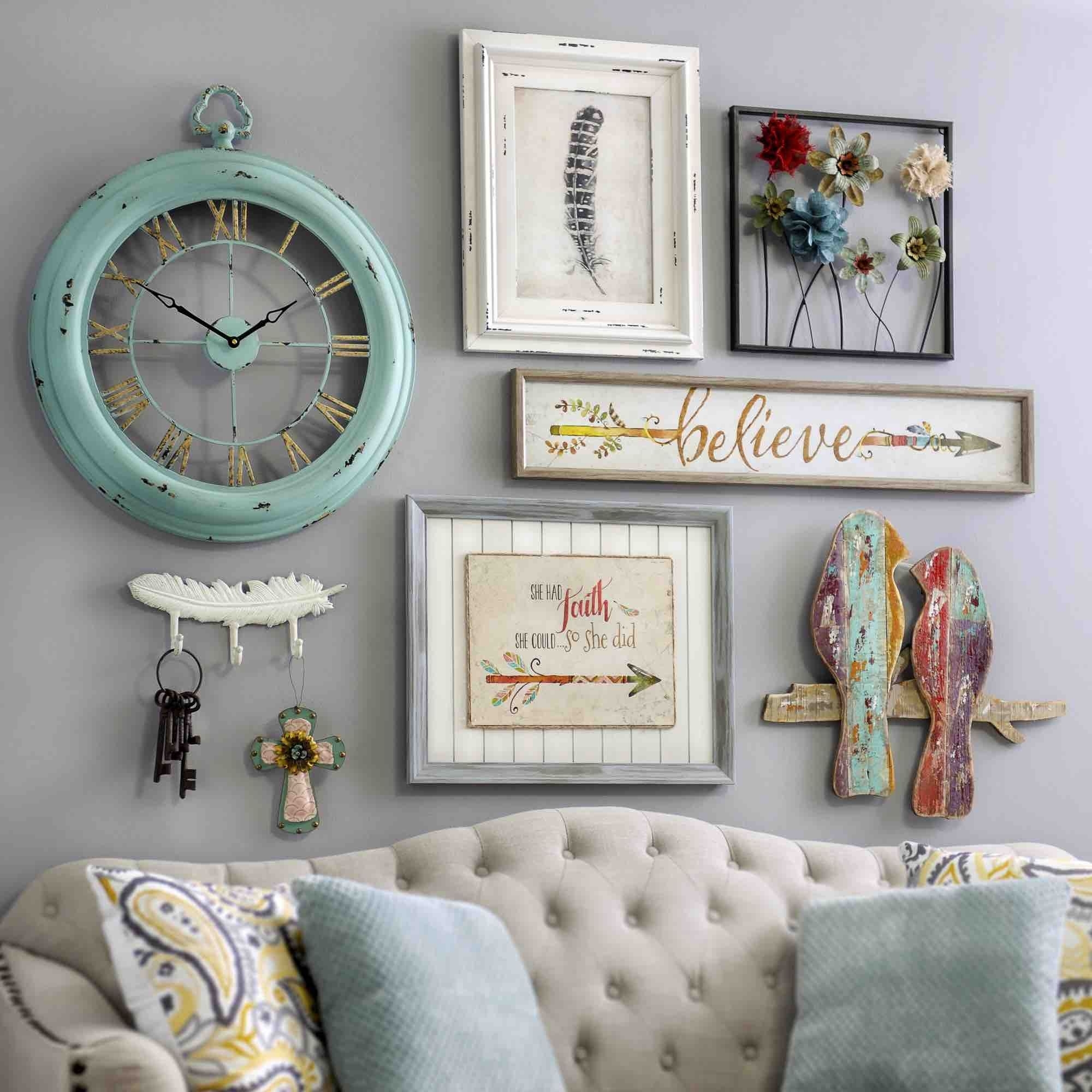 Bring A Shabby Chic Charm To Your Homeadding Pieces Of Wall within Shabby Chic Wall Art (Image 4 of 20)