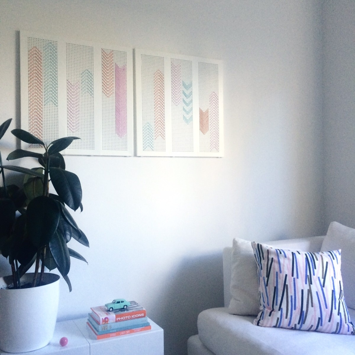 Broken Algot Shelf To Wall Art For Living Room - Ikea Hackers for Ikea Wall Art (Image 4 of 20)