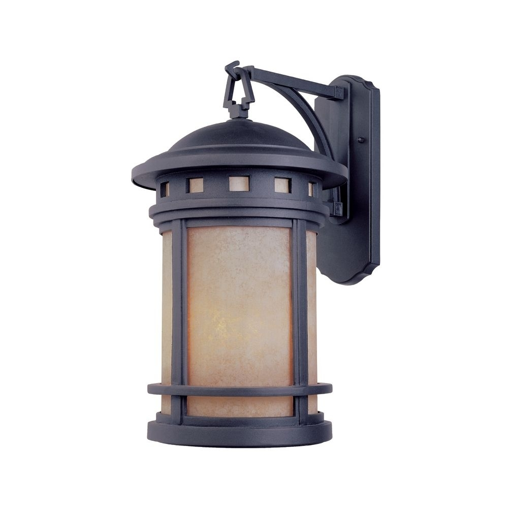 Bronze Outdoor Wall Lantern With Amber Glass | 2371-Am-Mp intended for Outdoor Wall Lanterns (Image 2 of 20)