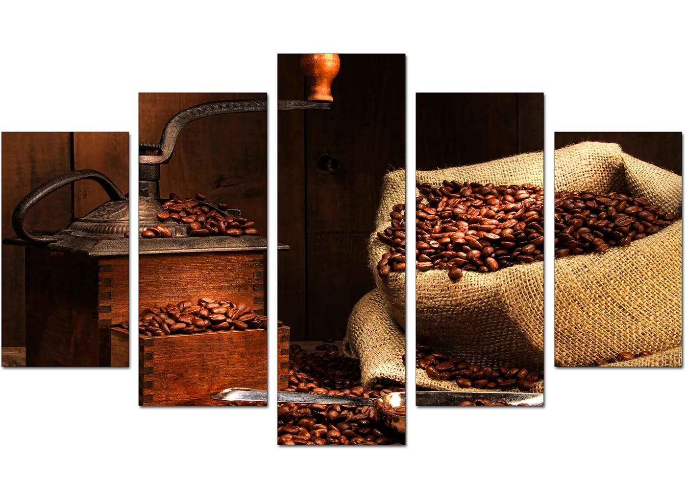Brown Canvas Wall Art Kitchen Coffee Xl Set Of Photo Gallery For In Kitchen Canvas Wall Art Decors (View 16 of 20)