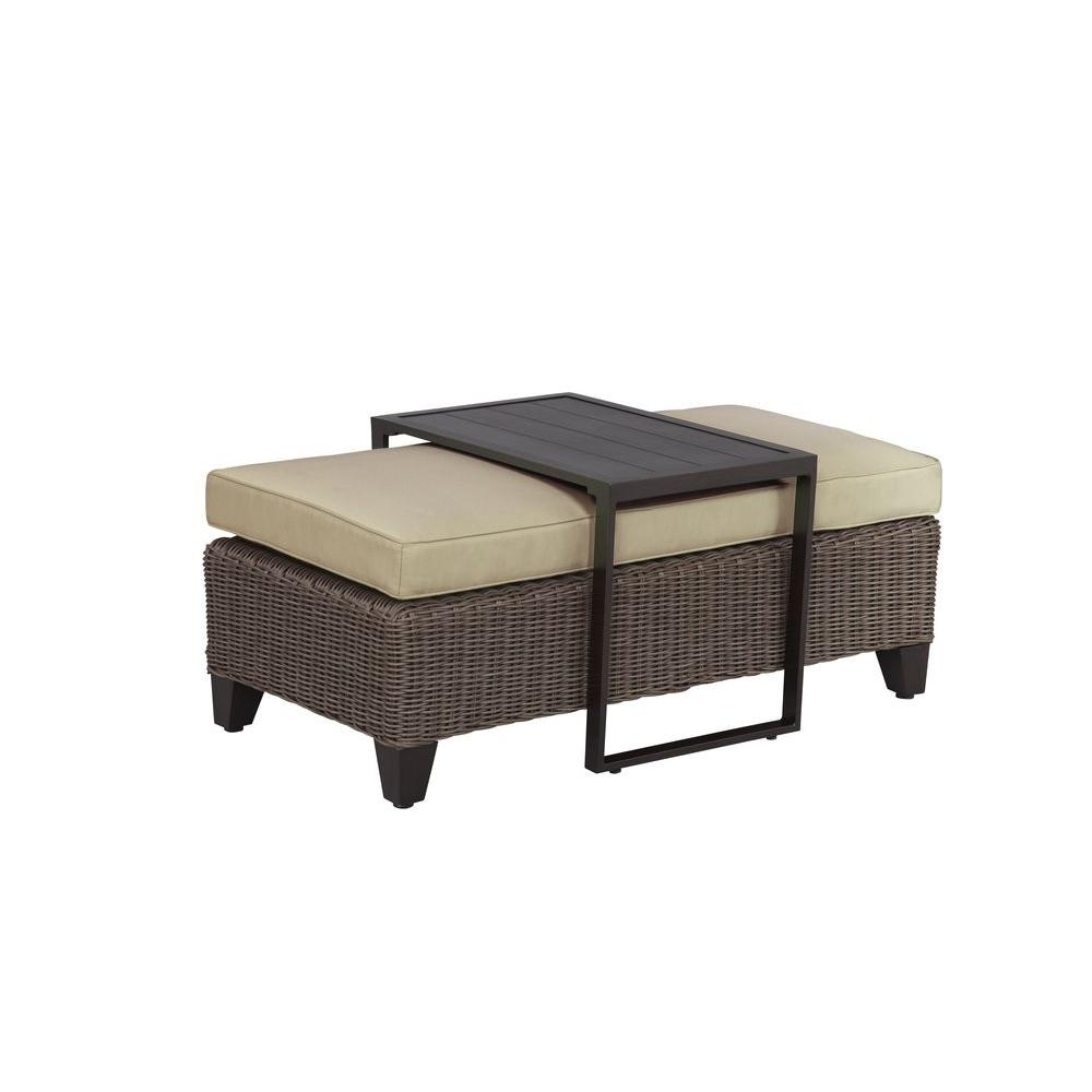 Brown Jordan Vineyard Patio Ottomancoffee Table With Meadow Cushion inside Elba Ottoman-Coffee Tables (Image 5 of 30)
