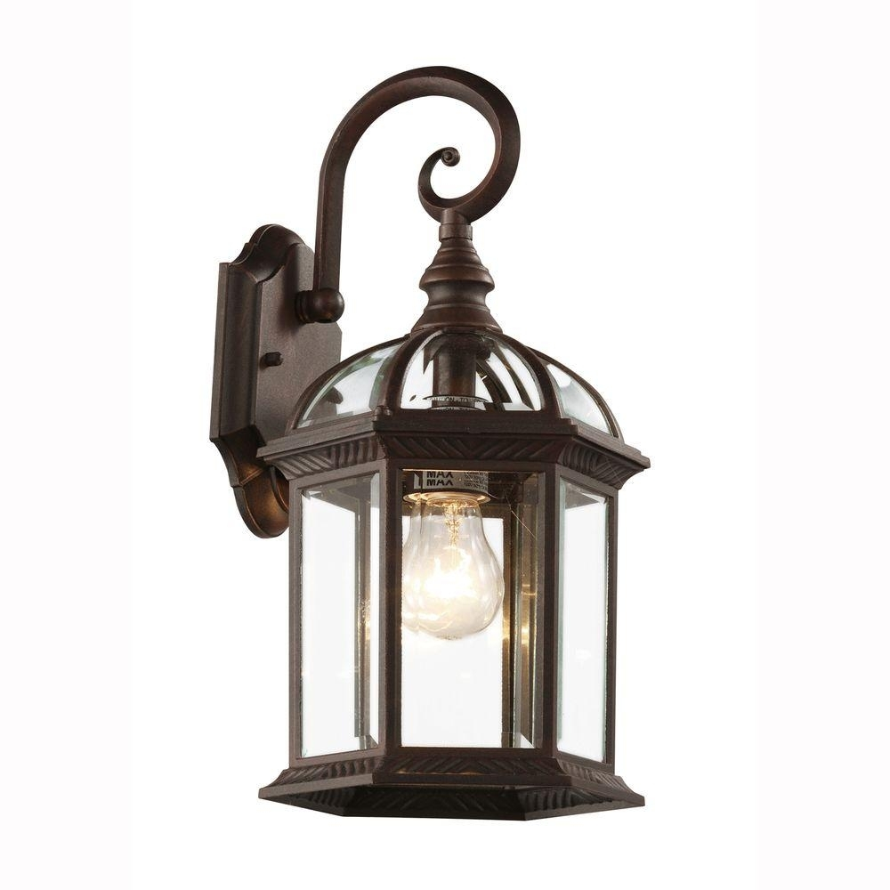 Brown - Outdoor Wall Mounted Lighting - Outdoor Lighting - The Home with regard to Rust Proof Outdoor Lanterns (Image 5 of 20)