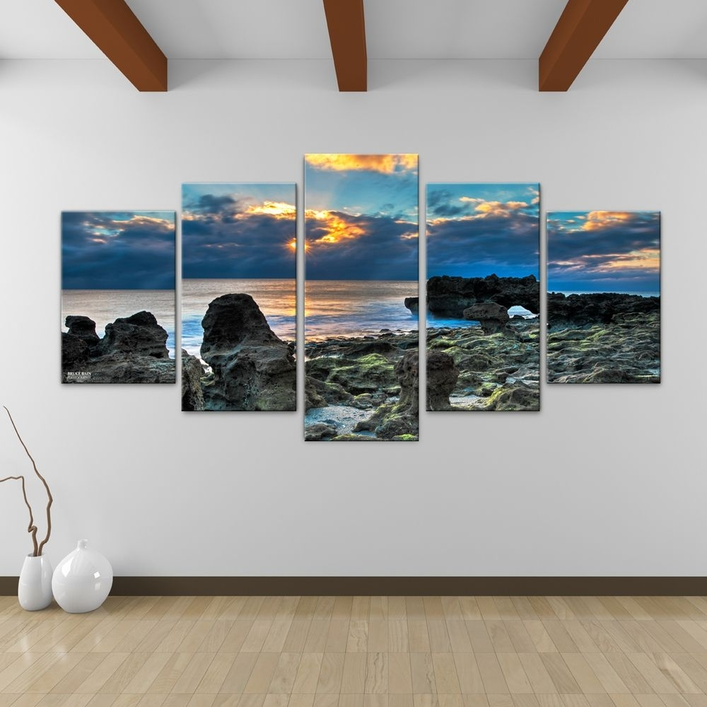 Bruce Bain 'sun Rise' 5-Piece Canvas Wall Art | Overstock within Overstock Wall Art (Image 2 of 20)