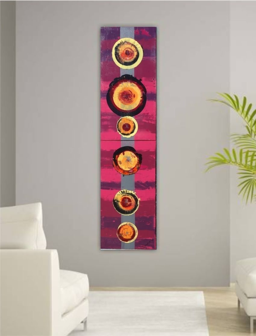 Burgundy A058 Abstract Painting Vertical Wall Art Decorative Arts With Regard To Burgundy Wall Art (View 12 of 20)