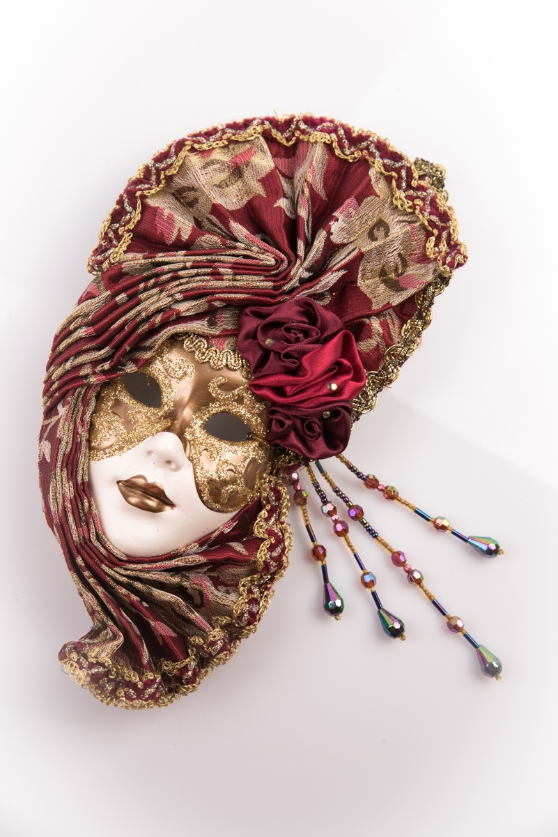 Burgundy Masquerade Style Mask With Face Wall Art Within Burgundy Wall Art (View 13 of 20)